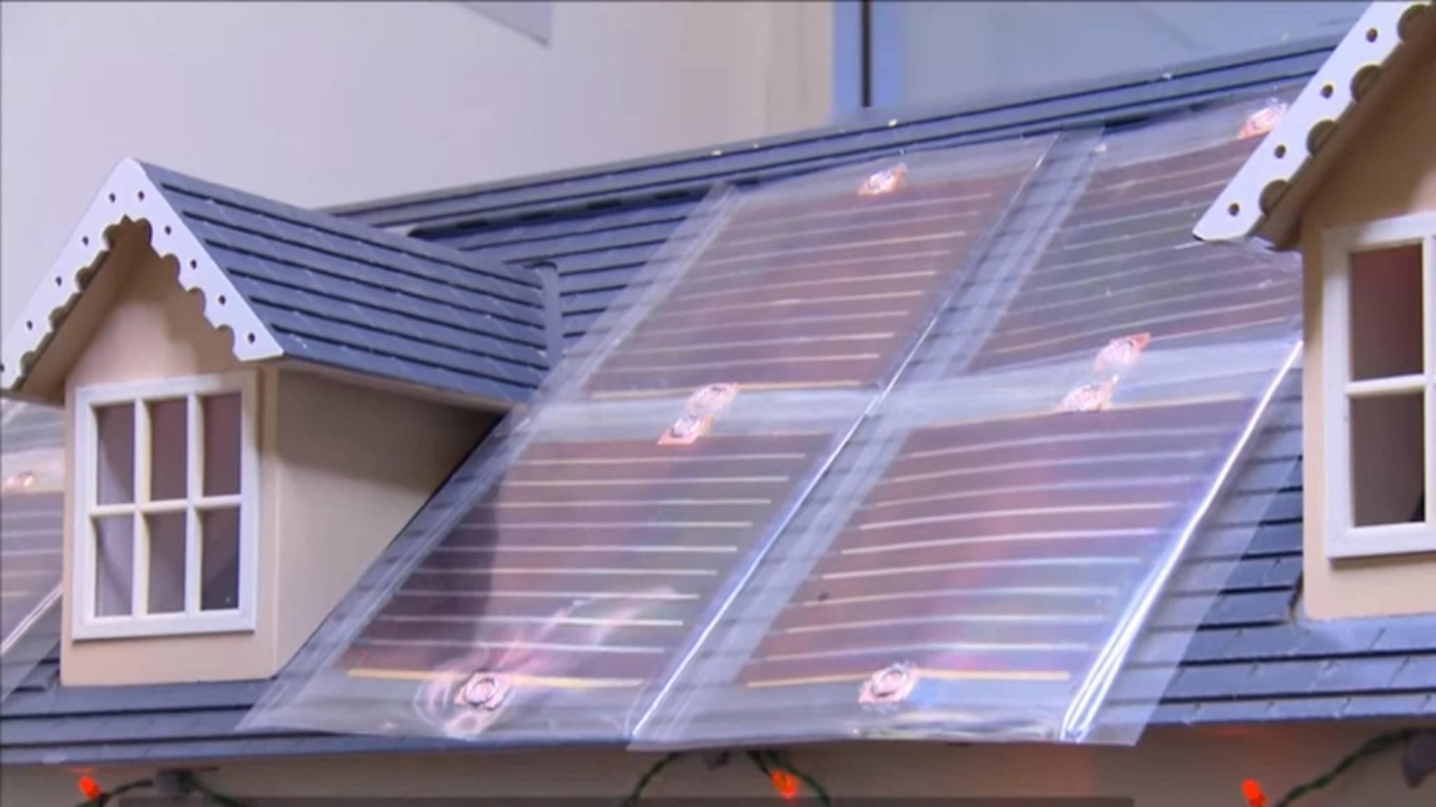 Gedruckte Solarmodule könnten bald auf Hausdächern verlegt werden.