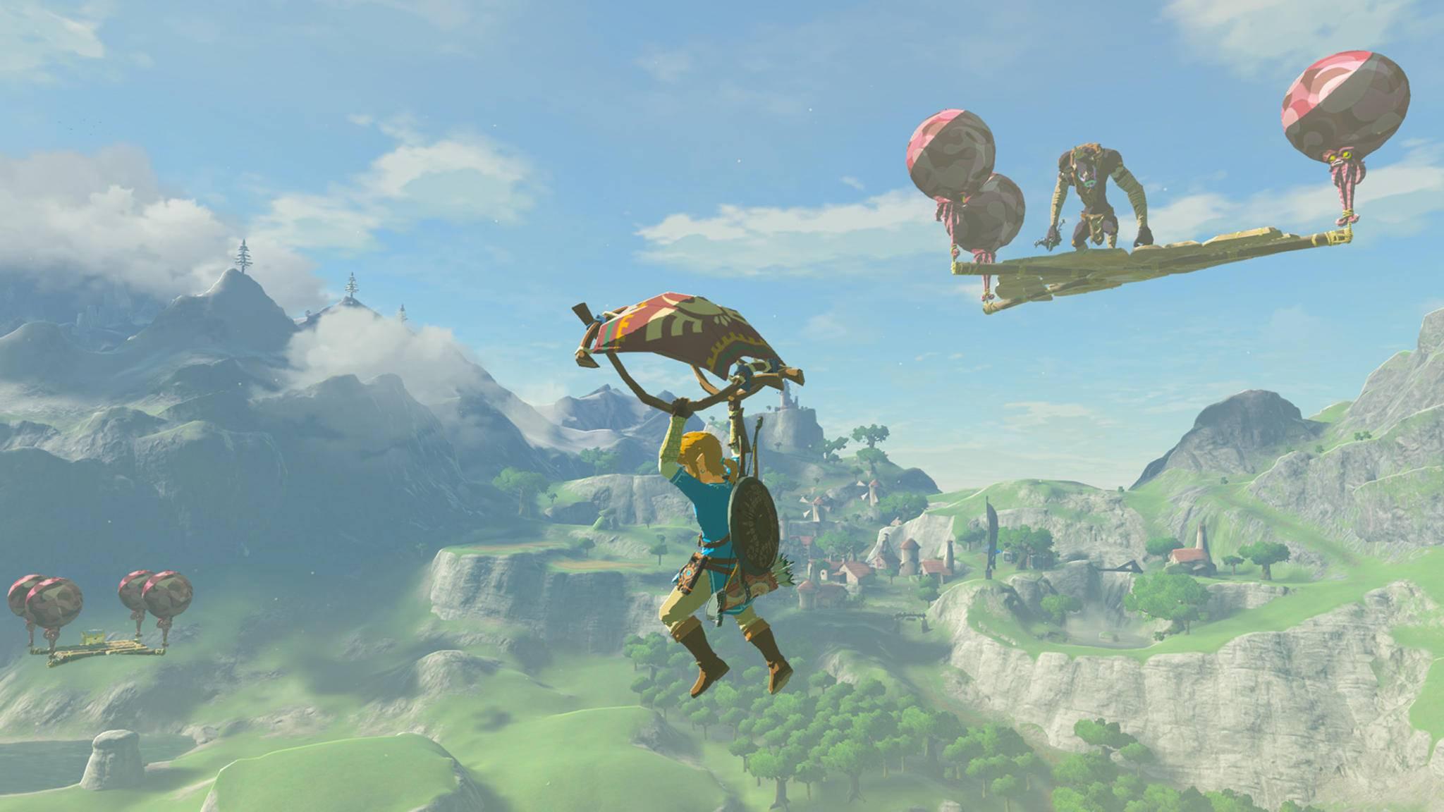 """""""The Legend of Zelda: Breath of the Wild"""": Im neuen Schwierigen Modus gibt es am Himmel schwebende Planken."""