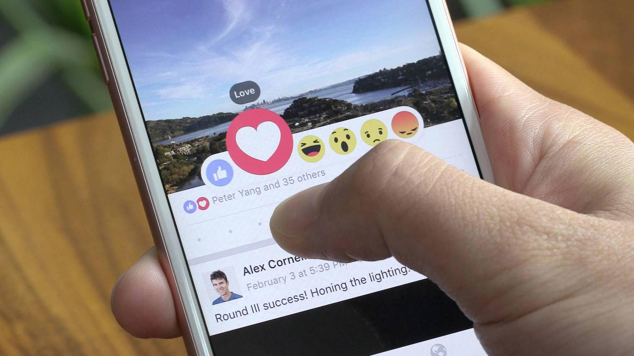 Die Facebook Reactions werden jetzt auf den Kommentarbereich ausgeweitet.