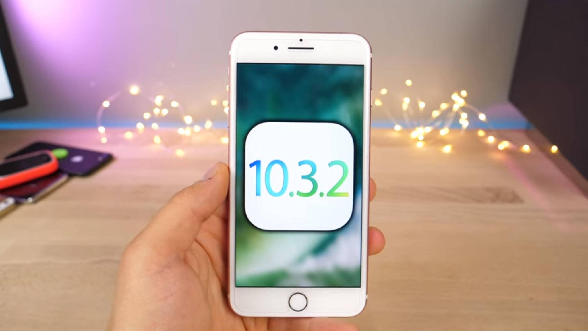 Der Downgrade auf iOS 10.3.2 ist ab sofort nicht mehr möglich.