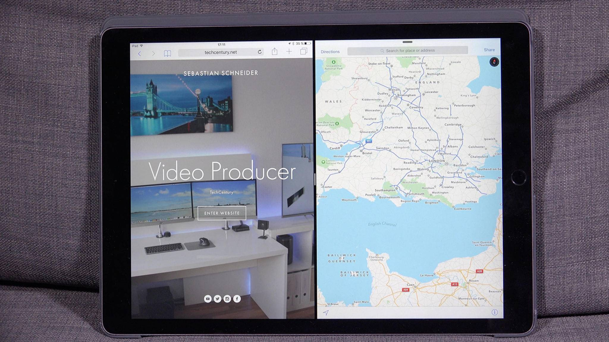 Praktisch: Auf dem iPad kannst Du zwei Apps nebeneinander anzeigen lassen – Split View macht es möglich.