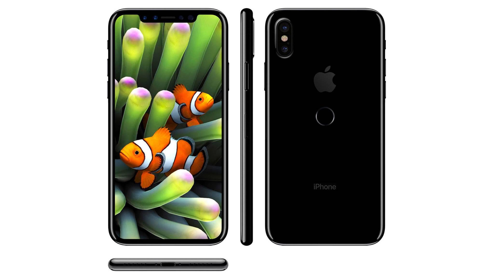 Ungewohnter Anblick: So könnte ein iPhone 8 mit Touch ID auf der Rückseite aussehen.