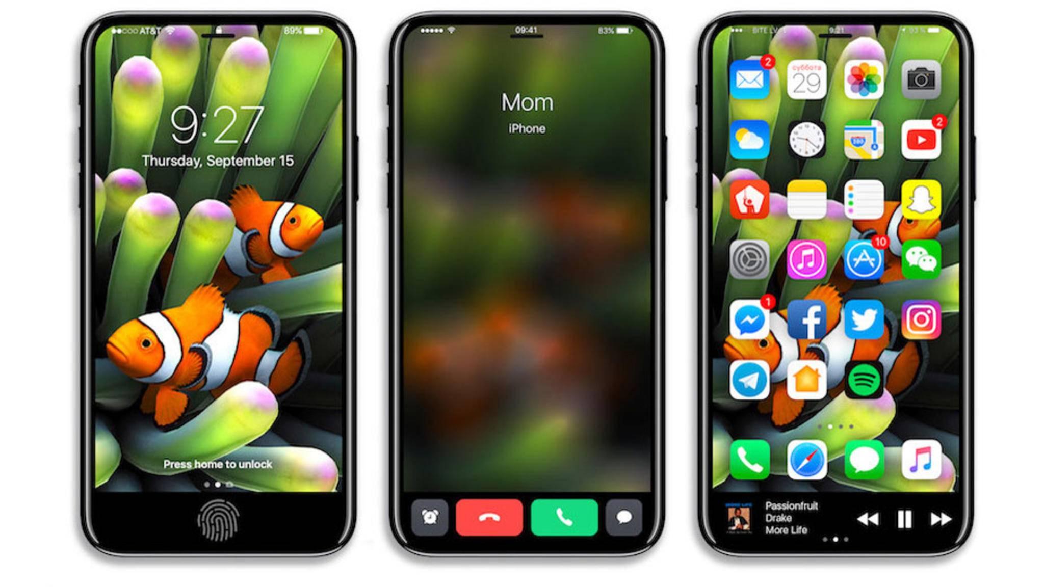 Touch ID und Buttons für eingehende Telefonate: Für diese Features könnte der Funktionsbereich gut sein.