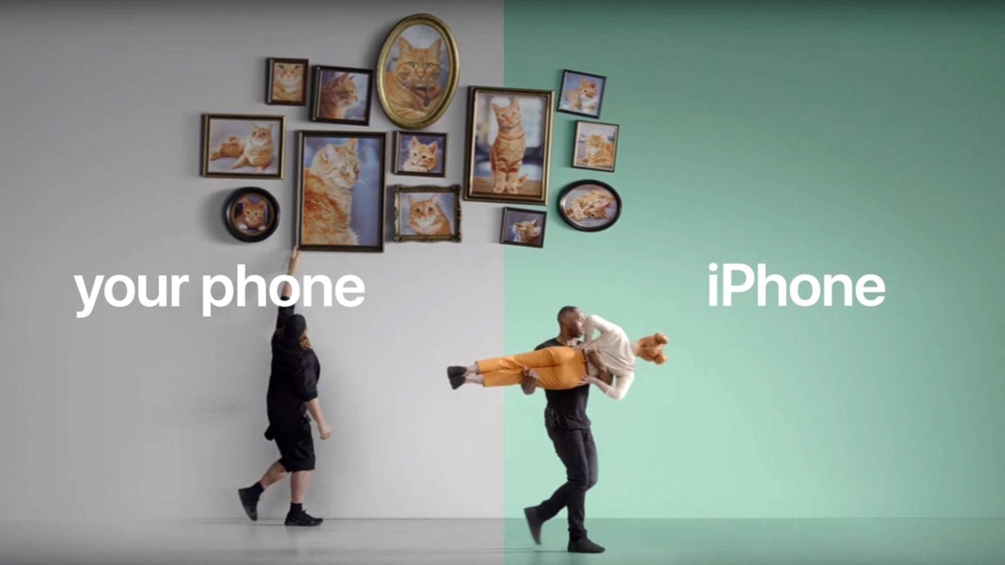 Mit seinen neuen Clips will Apple die Smartphone-Nutzer zum Wechsel bewegen.