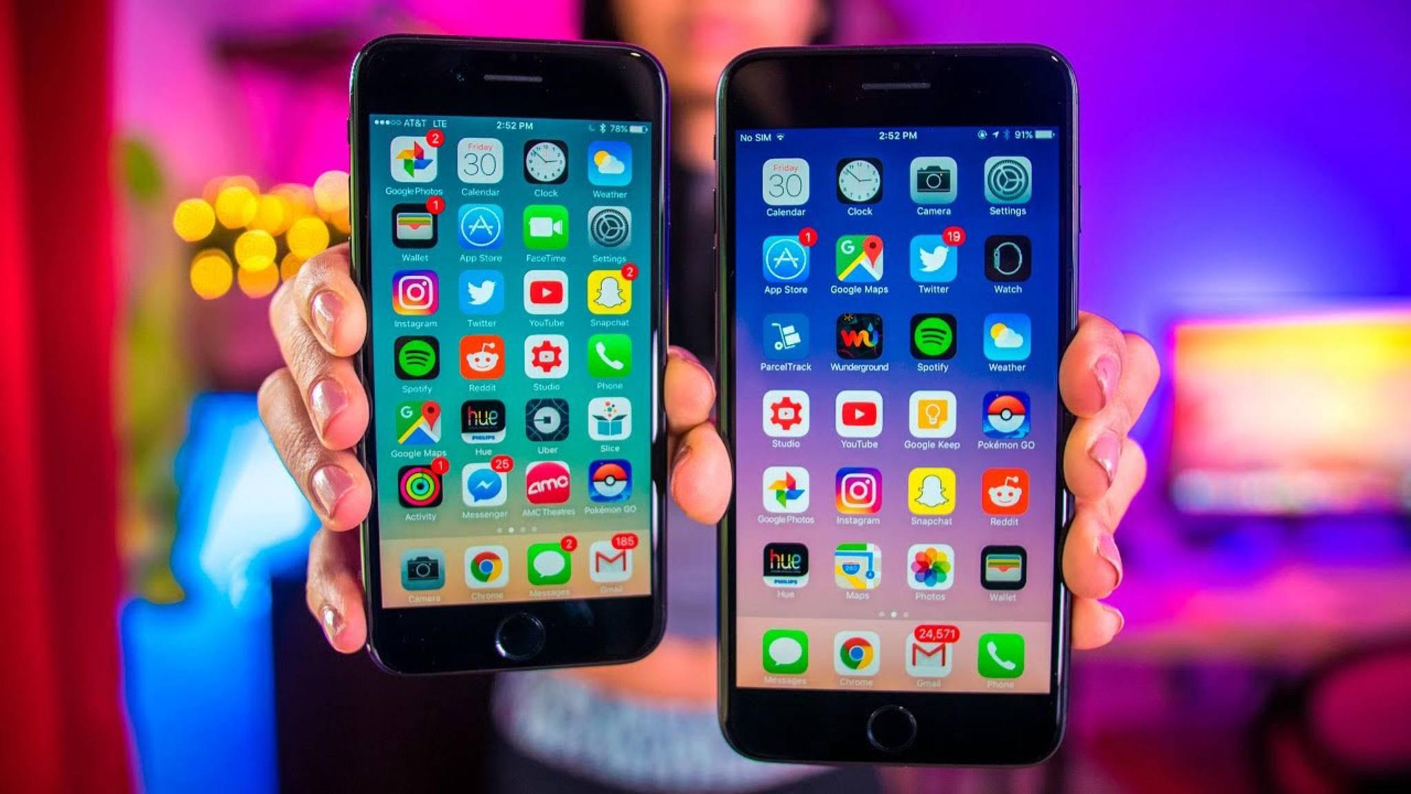 Das iPhone 7 und das iPhone 7 Plus unterscheiden sich nicht nur in der Displaydiagonale.