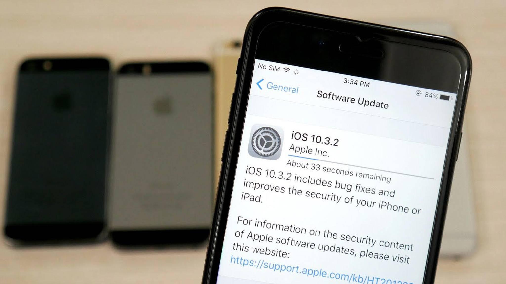 iOS 10.3.2 steht zum Download bereit.