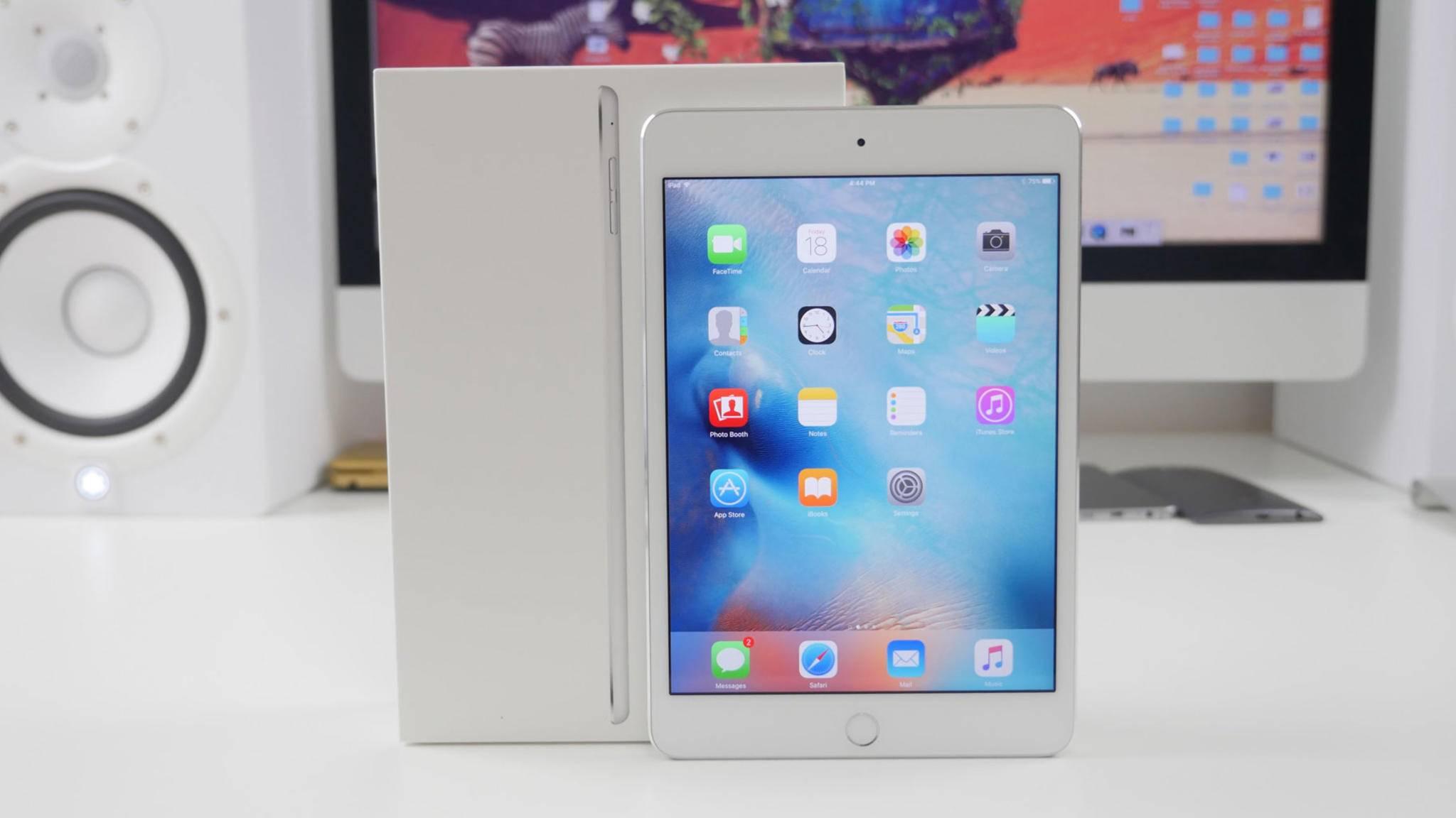 Das iPad mini 4 (Foto) ist mittlerweile mehr als drei Jahre alt.