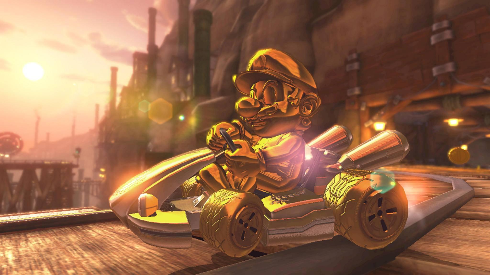 """Damit Dein Kart in """"Mario Kart 8 Deluxe"""" so schillernd aussieht, musst Du einiges an Spielzeit investieren."""