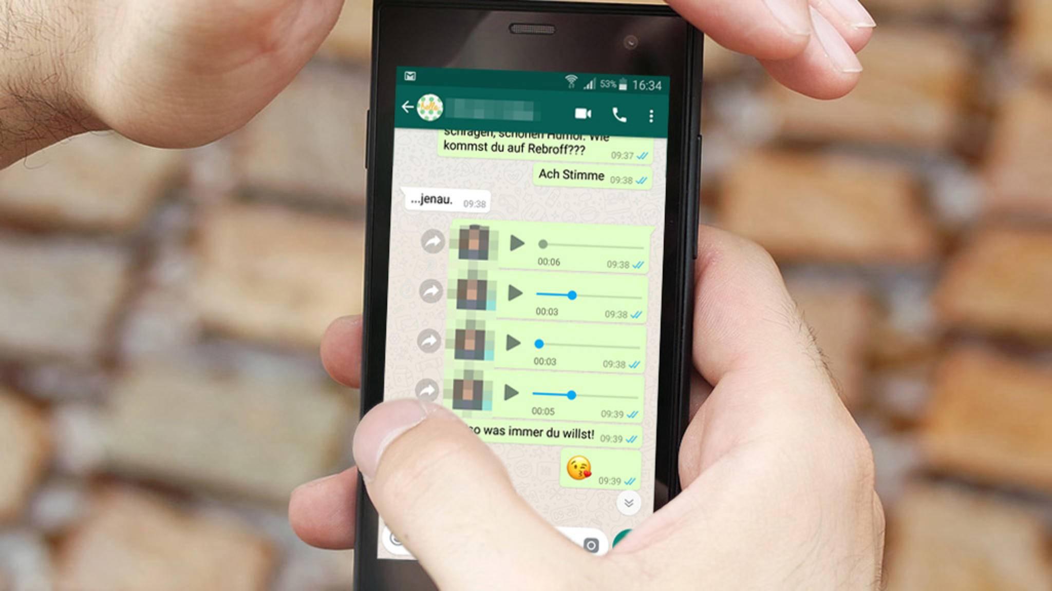 Sind deine WhatsApp-Sprachnachrichten auch zu leise?