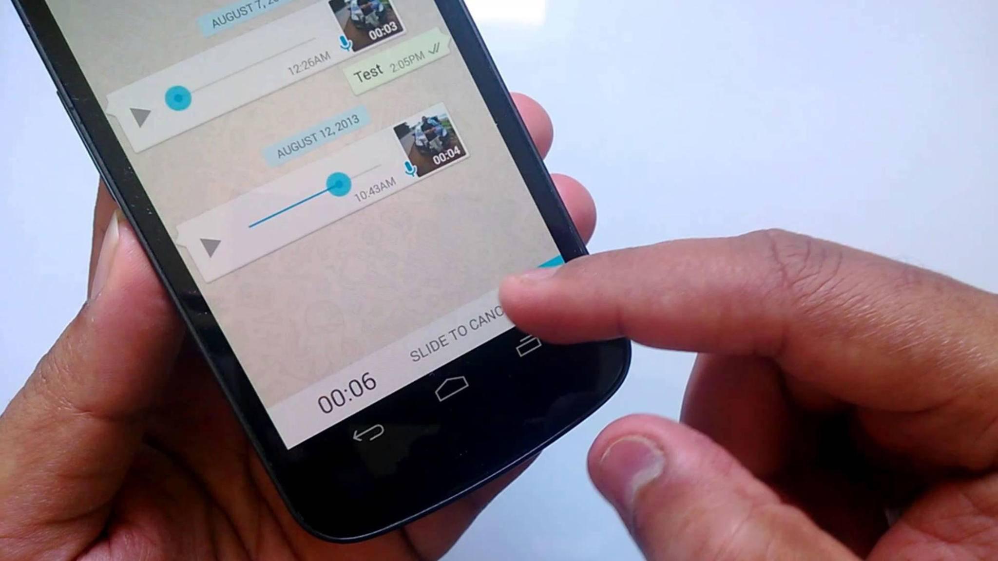 Auch Sprachnachrichten können in WhatsApp weitergeleitet werden.