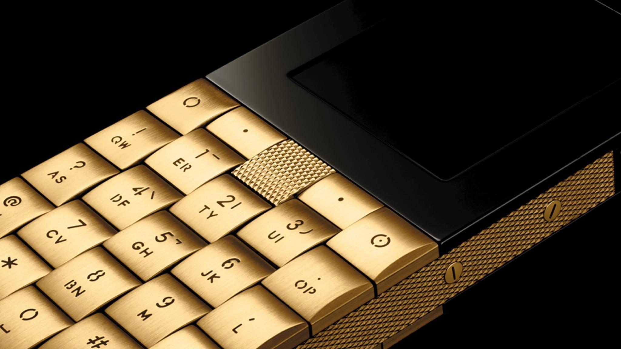 Du fühlst Dich an eine Rolex erinnert? Der Uhren-Look ist bei diesem Luxushandy absolut gewollt.