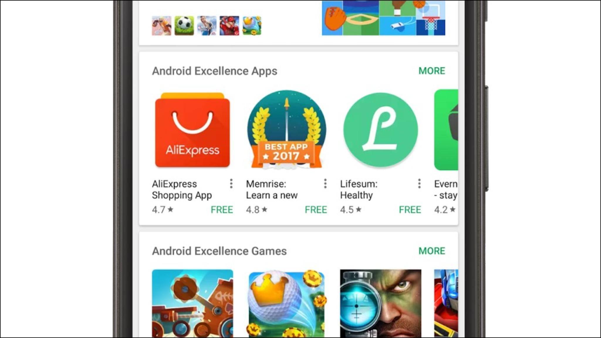 Besonders gute Android-Apps erhalten von Google die Android-Excellence-Auszeichnung.