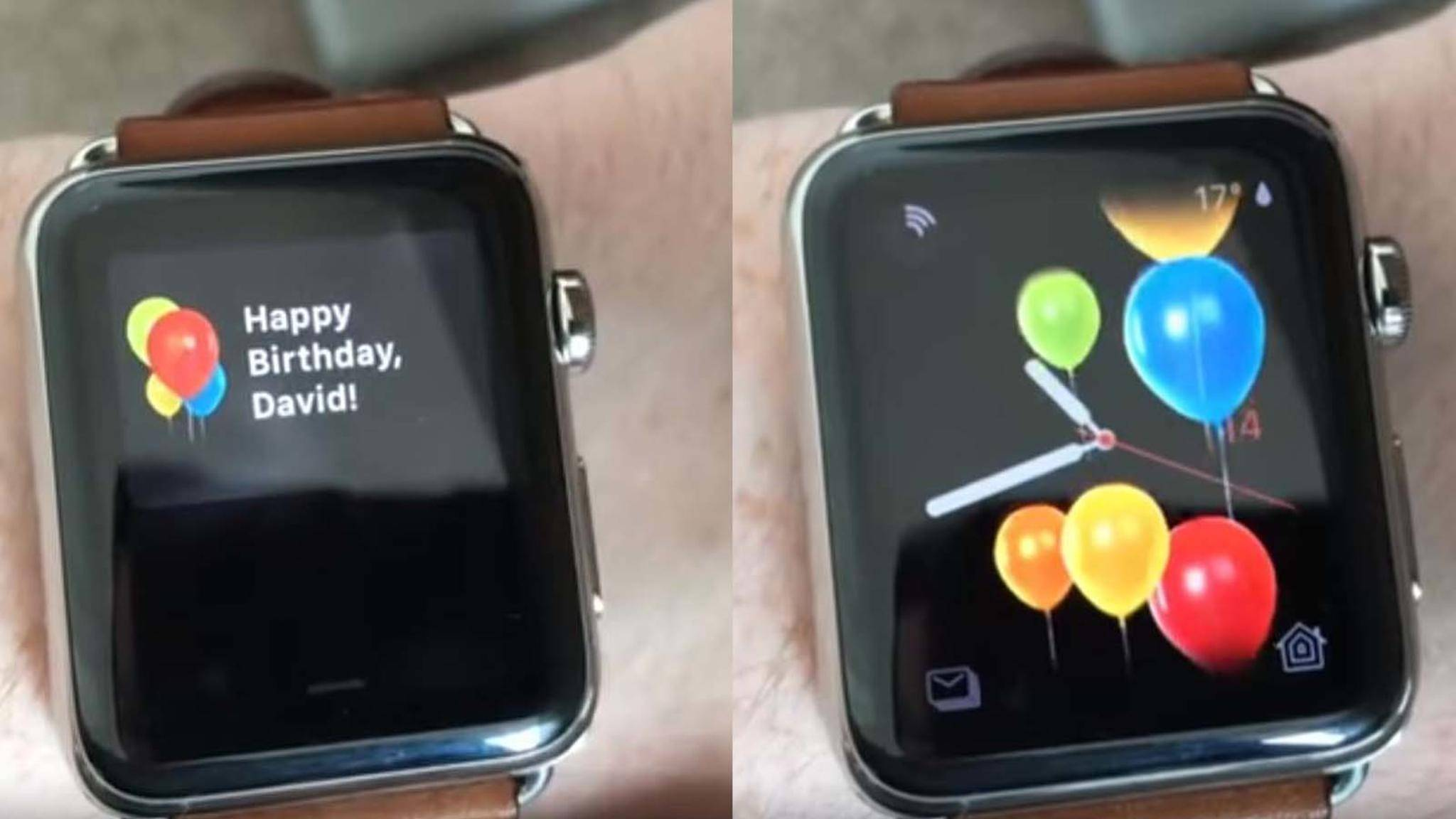 So nett gratuliert die Apple Watch in watchOS 4 ihren Nutzern zum Geburtstag.