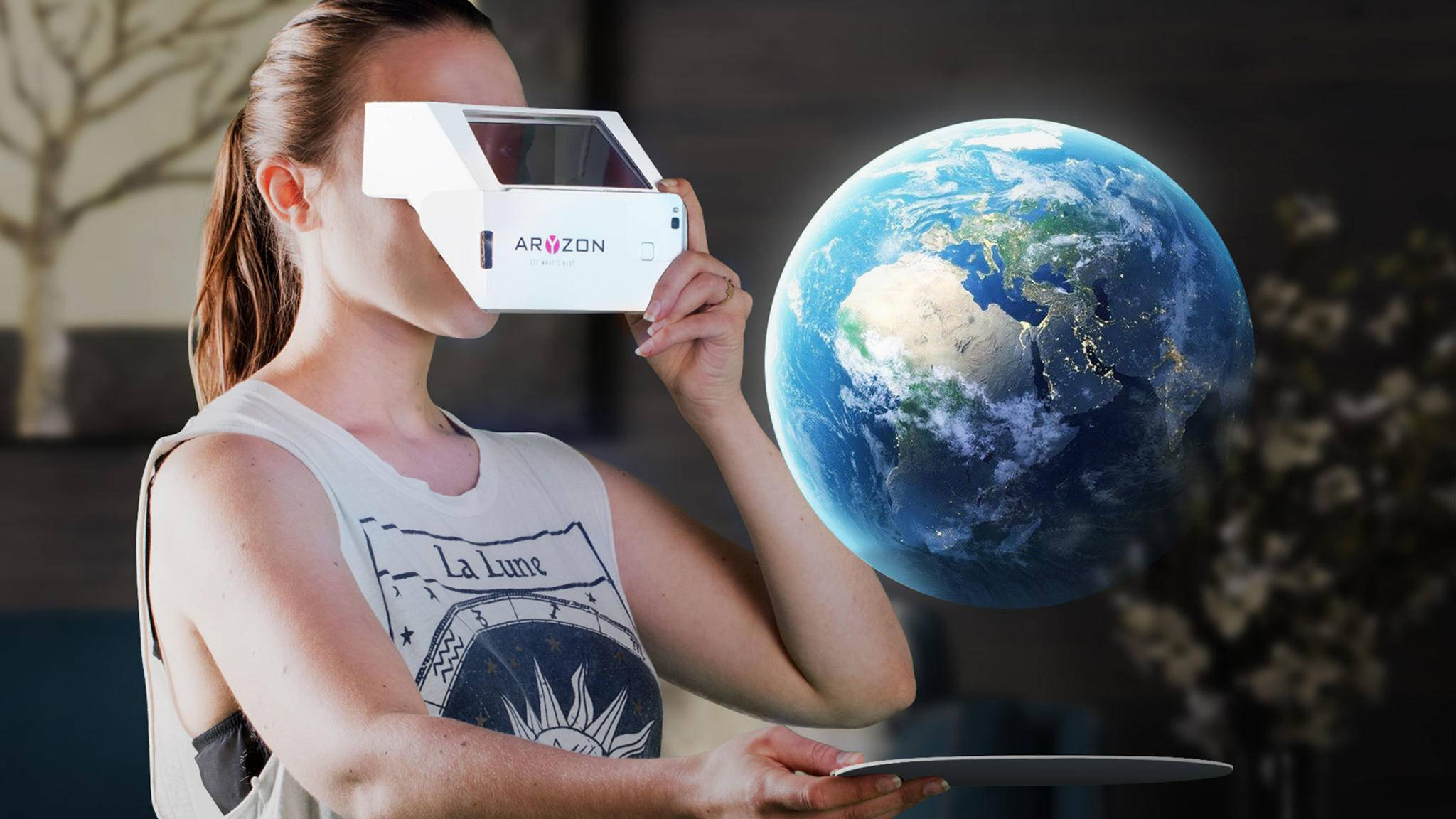 Das Kickstarter-Projekt Aryzon macht jedes Smartphone fit für die erweiterte Realität.
