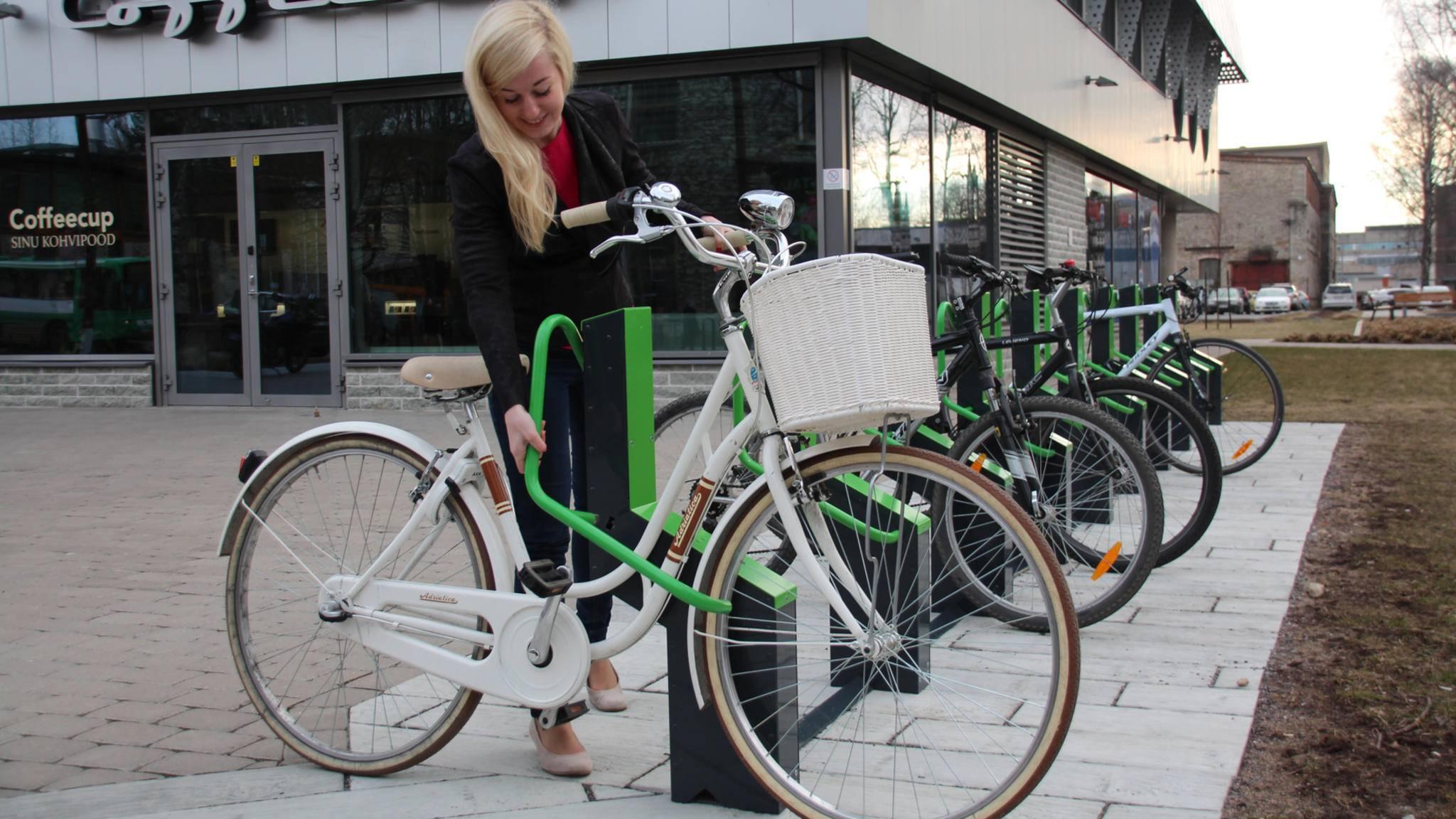 An den Bikeep-Stationen kann das Fahrrad sicher angeschlossen werden.