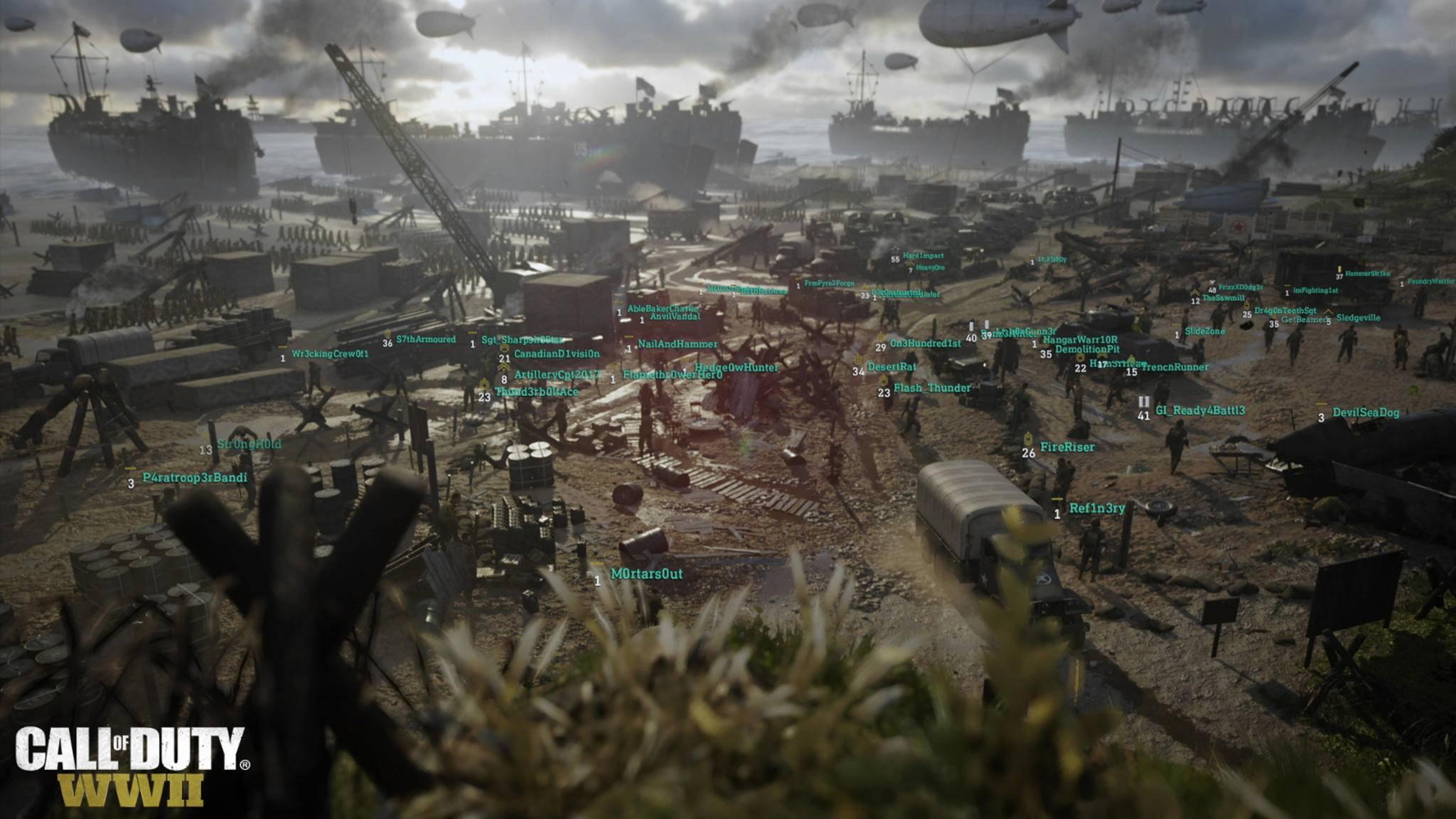 """Die Headquarters in """"Call of Duty: WW2"""" sind ein Social Hub, in dem sich die Spieler die Zeit vertreiben können."""