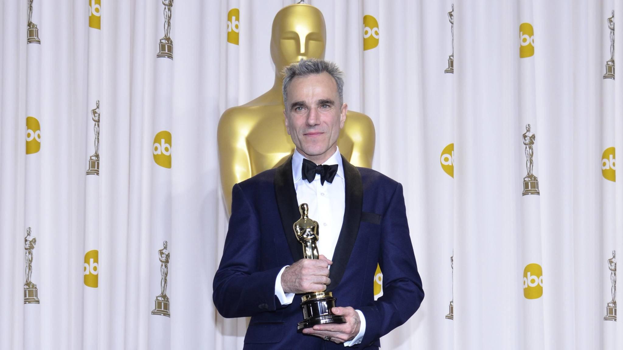 Diesen Anblick werden wir vermissen: Daniel Day-Lewis bei den Academy Awards.