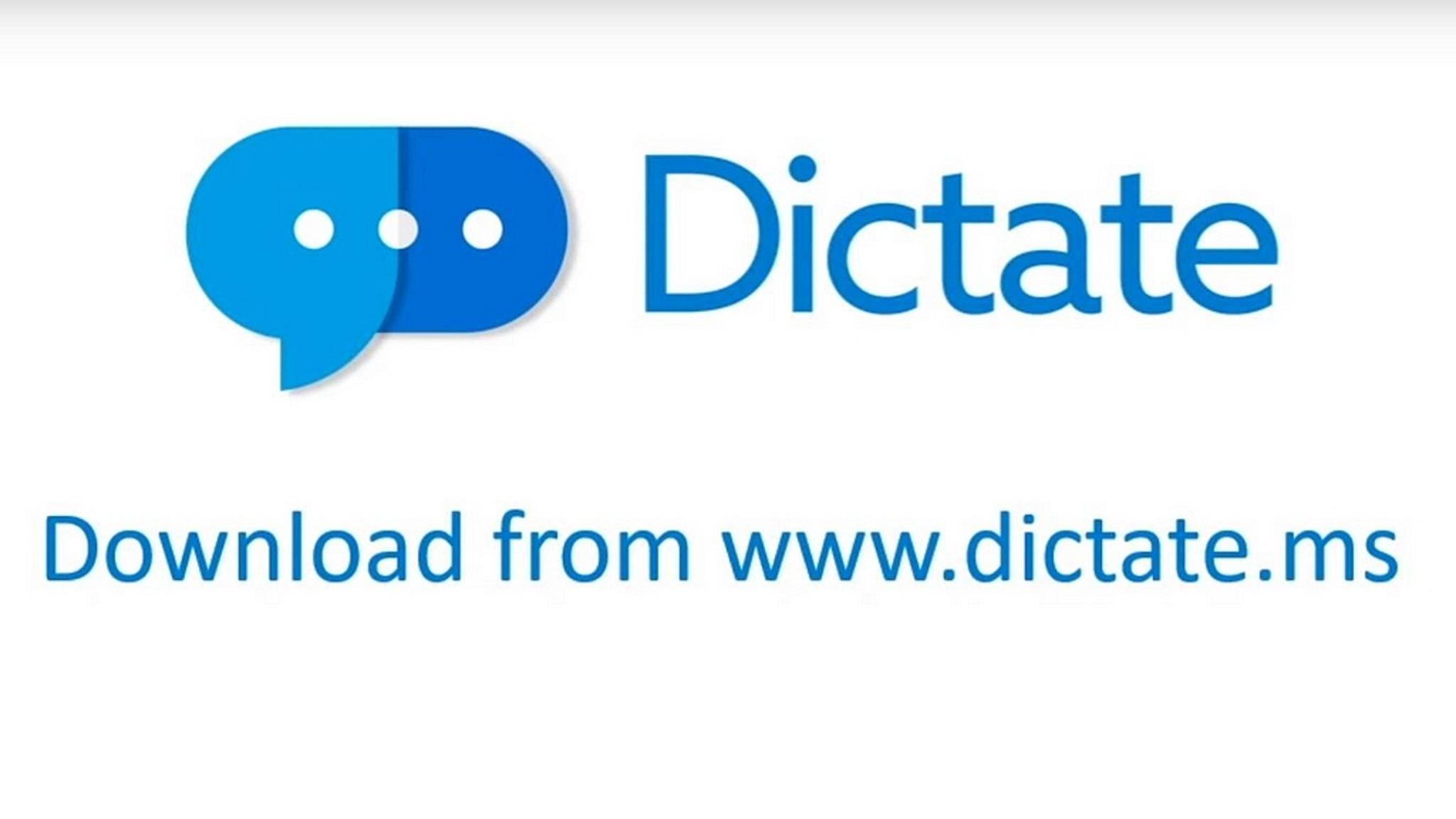 Mit Dictate lassen sich Texte freihändig schreiben.