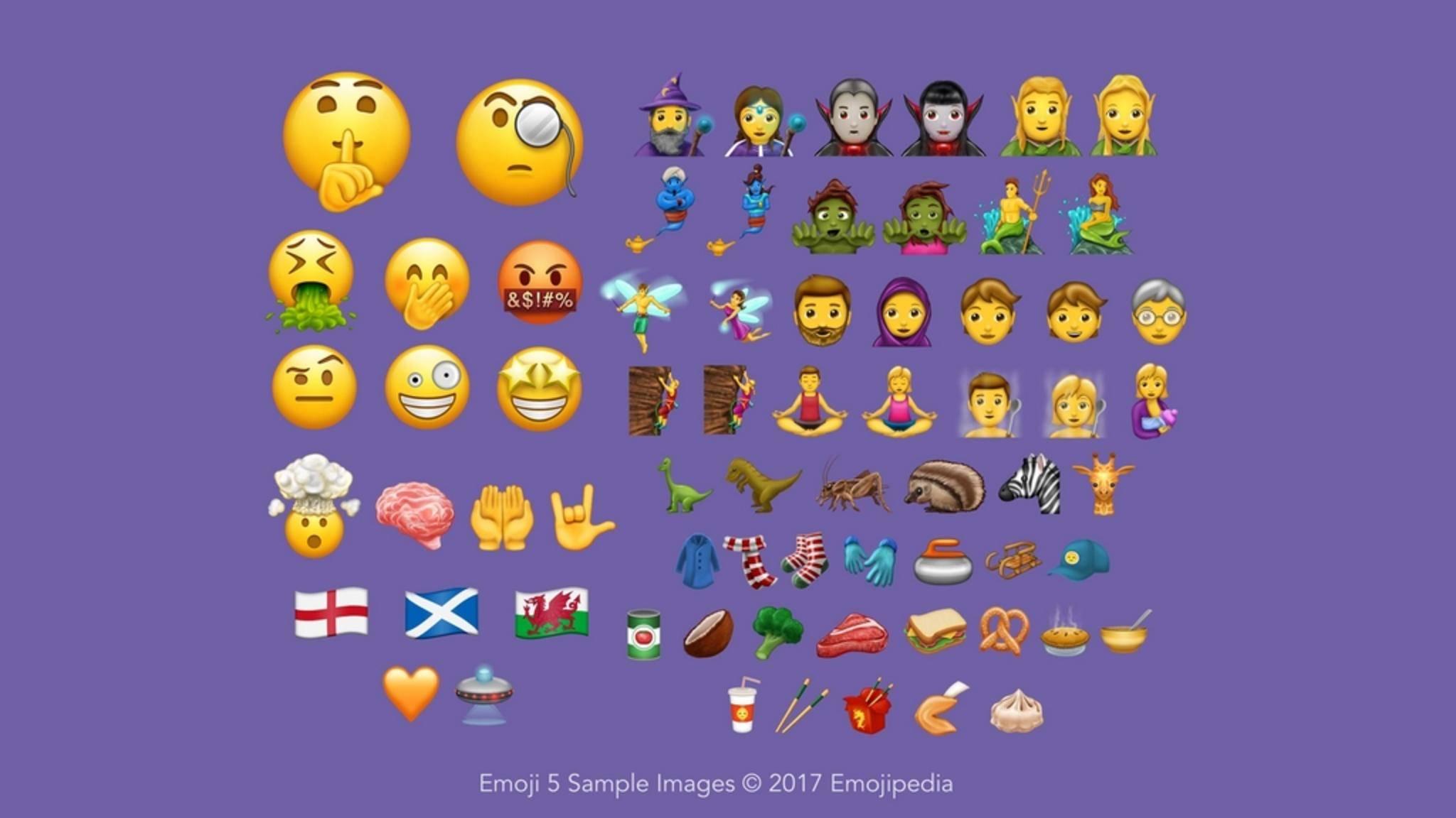 56 neue Emojis sind im Anmarsch.