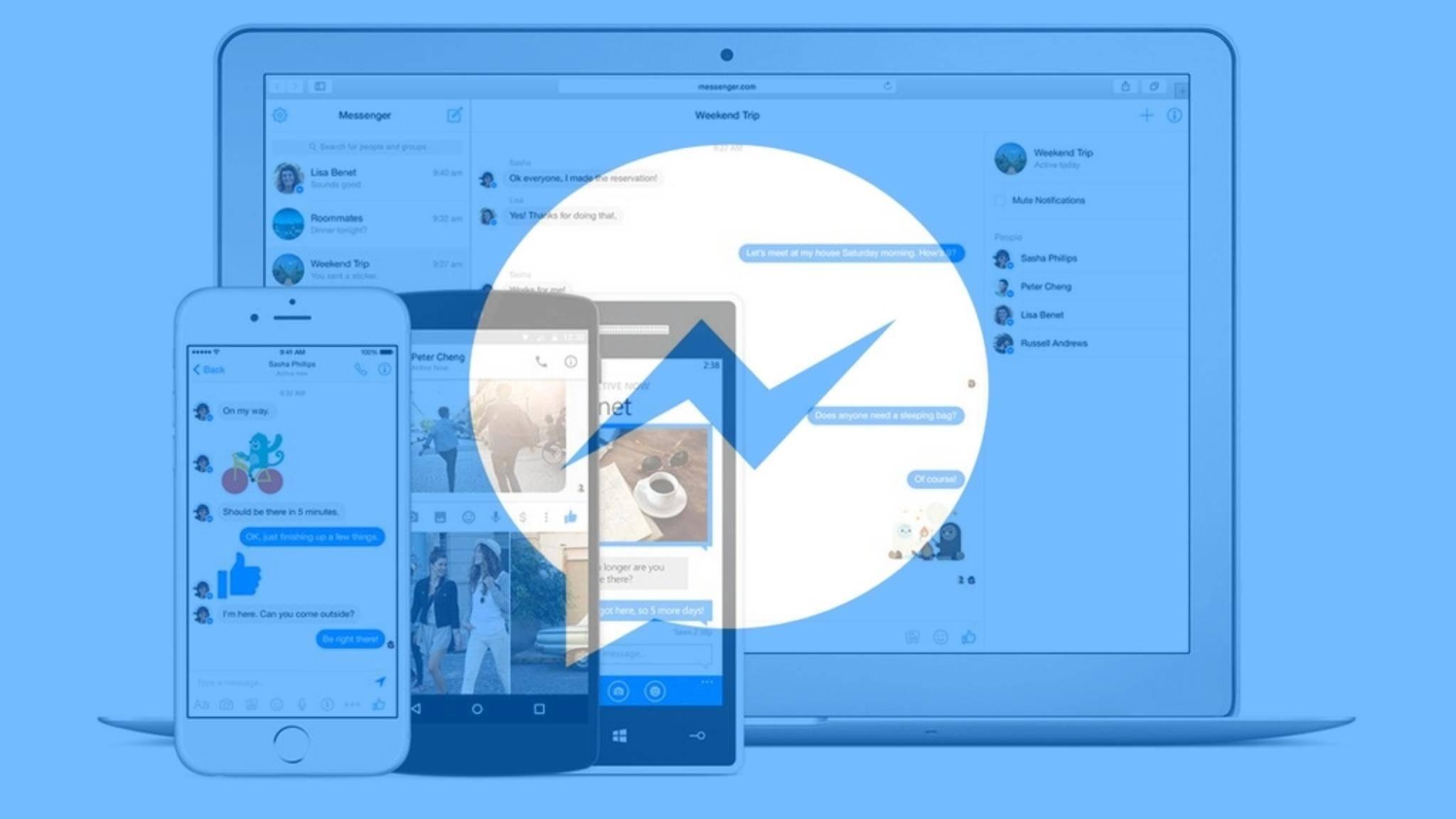 Den Facebook Messenger kannst Du ganz ohne Browser am PC nutzen.