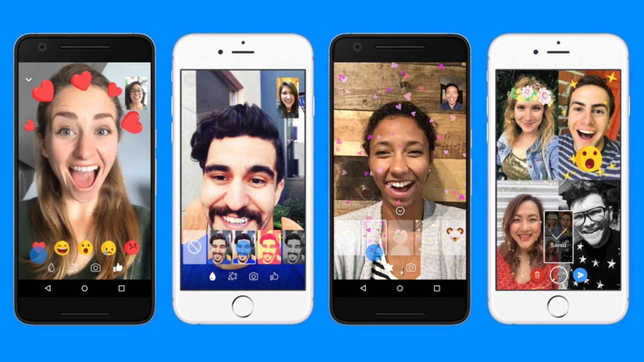 Der Videochat im Facebook Messenger wurde um einige Filter und Effekte erweitert – selbst Screenshots sind jetzt möglich.