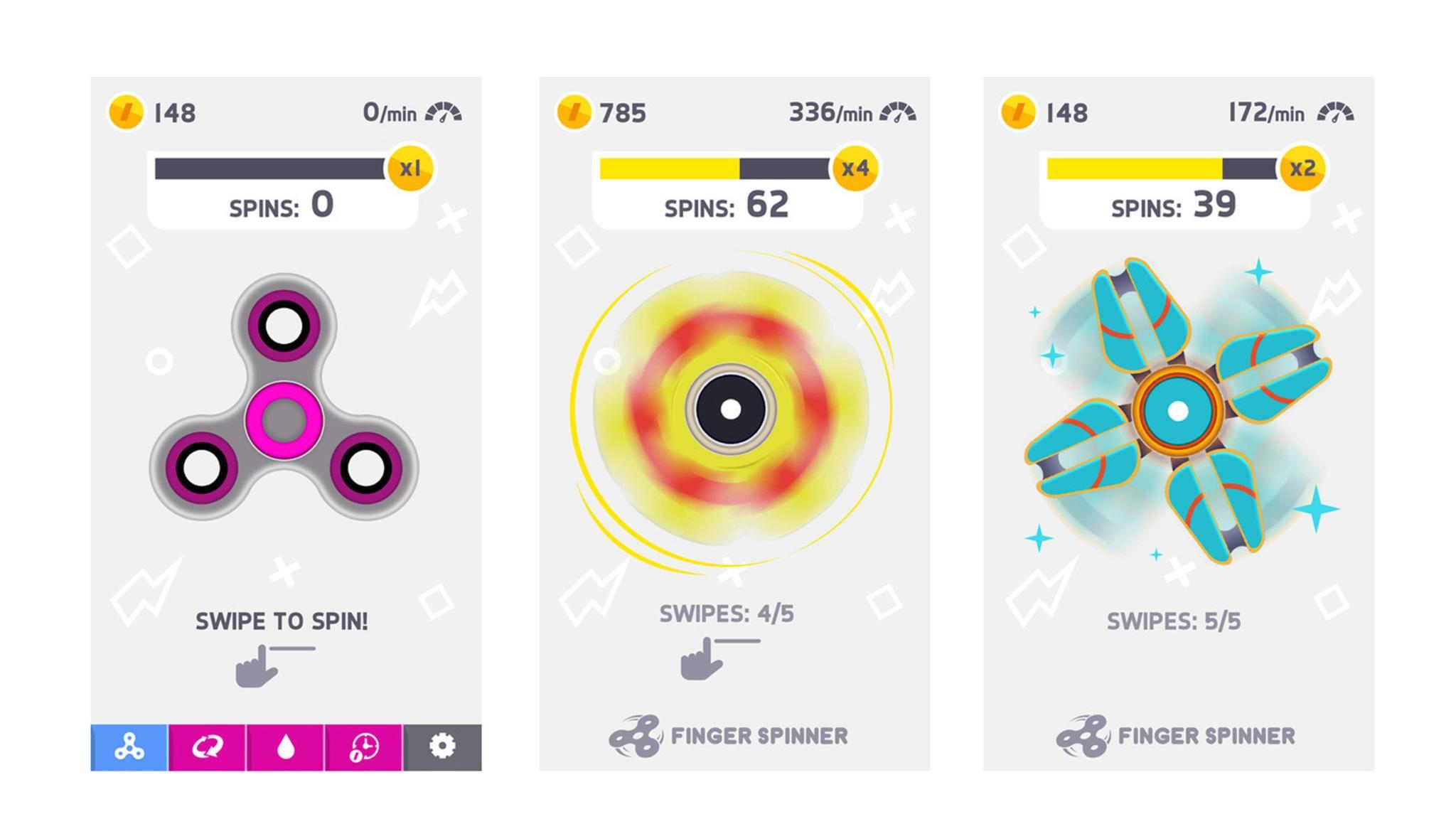 Der Fidget Spinner ist auch als App ein voller Erfolg.