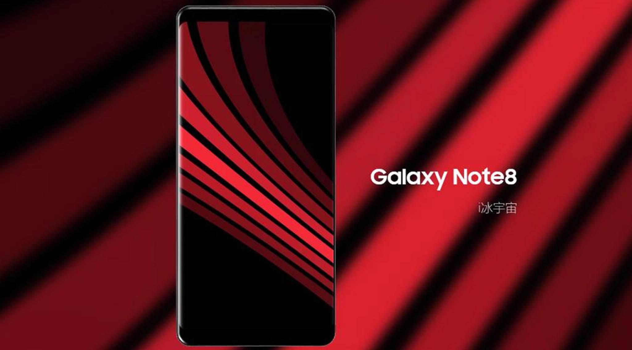 Riesiger Randlos-Screen: Die Enthüllung des Galaxy Note 8 wird mit Spannung erwartet.