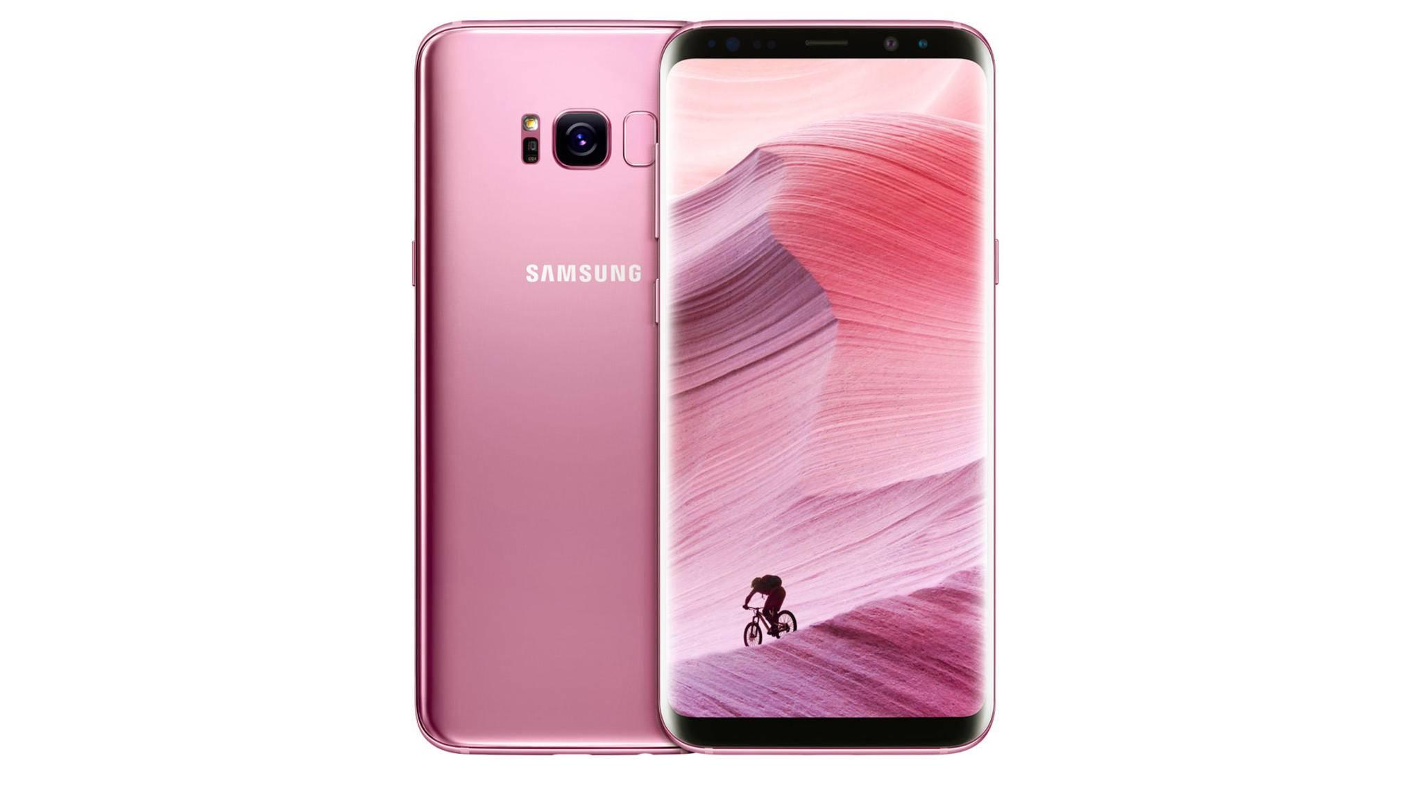 Zum Start wird das Galaxy S8 Plus in Rose Pink in Südkorea und Taiwan erhältlich sein.