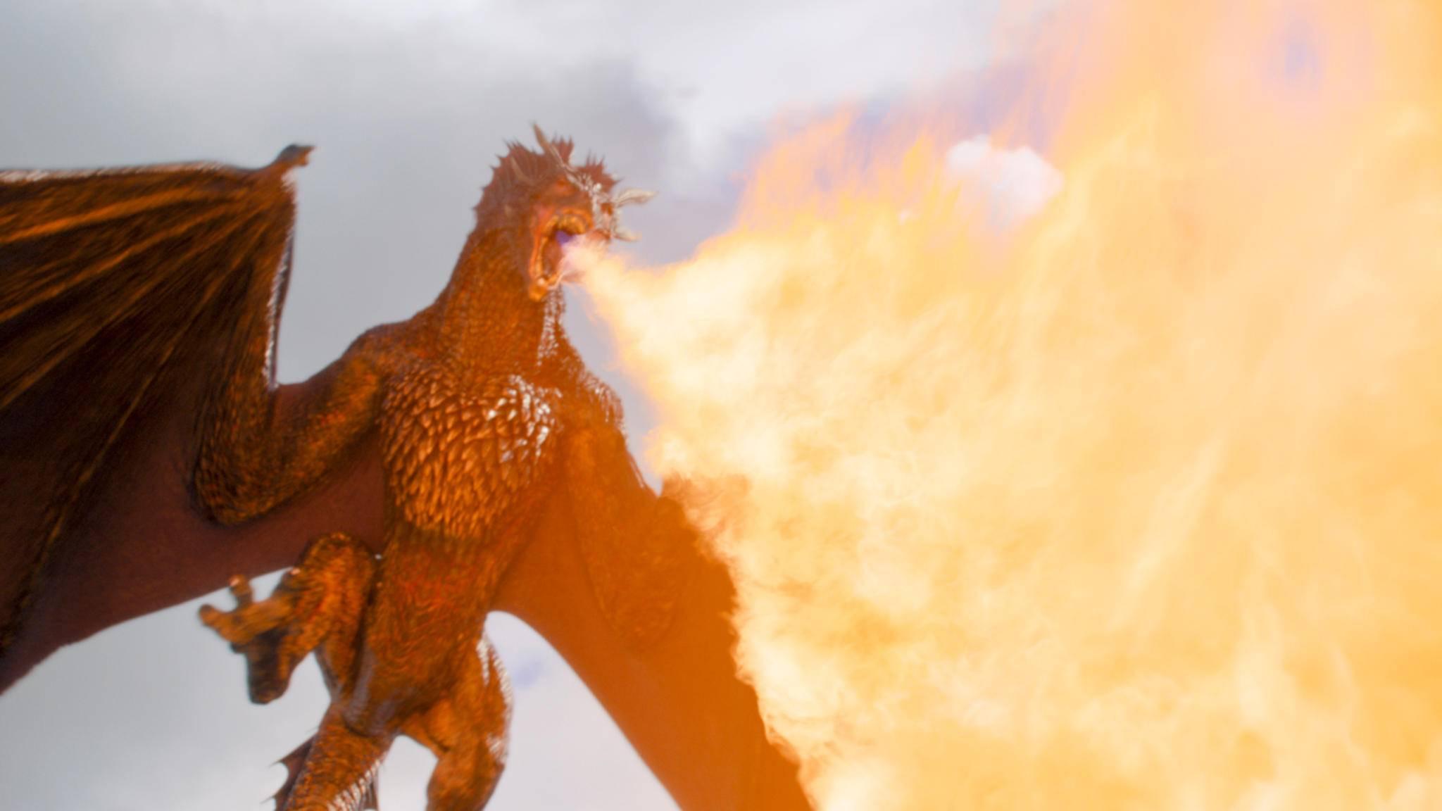 """Die Drachen aus """"Game of Thrones"""" machen sich schon einmal für die große Schlacht von Staffel 7 bereit."""