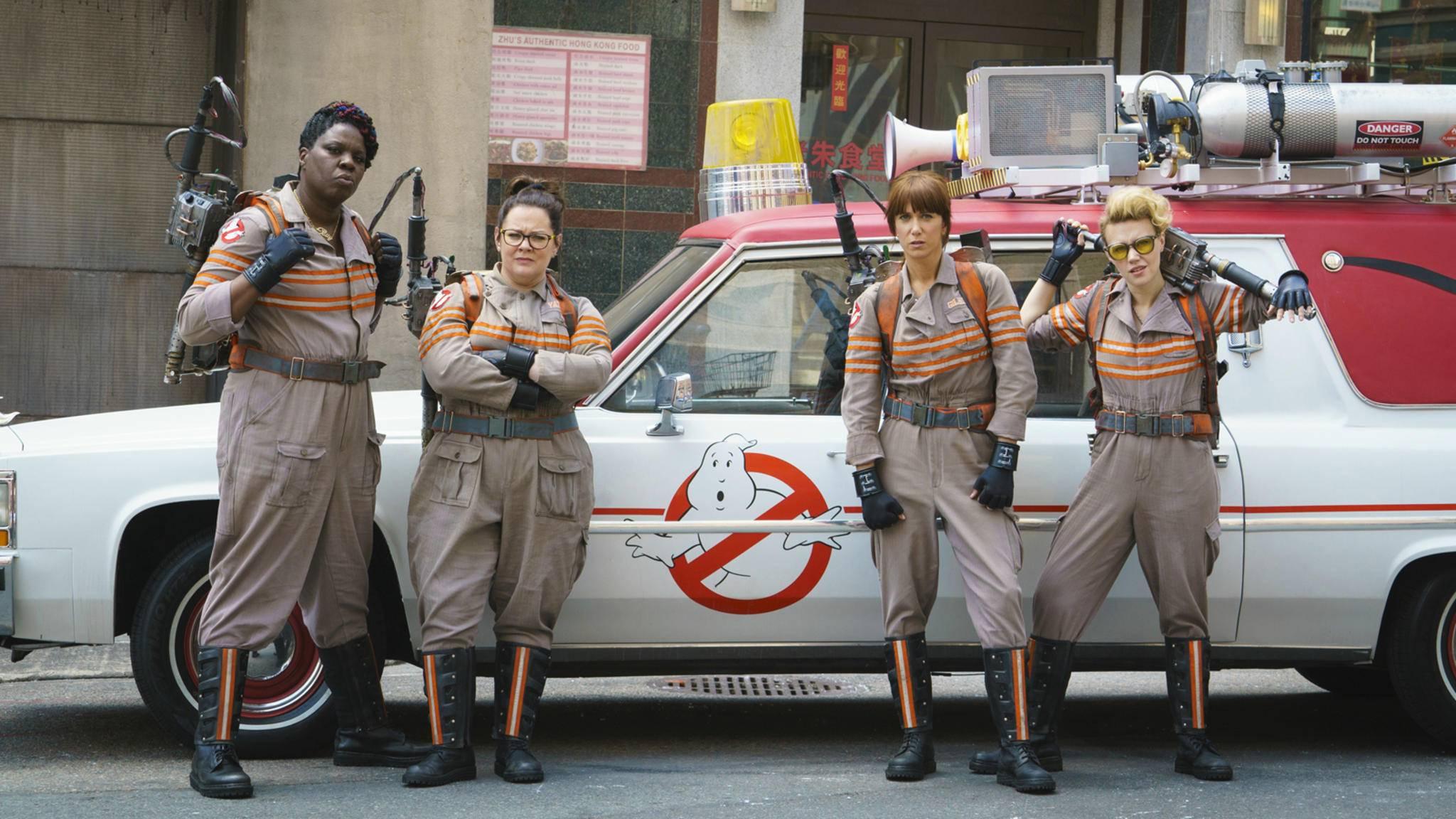 Glaubt man Regisseur Reitman, gehen Melissa McCarthy (2. von links) und Co. bald wieder auf Geisterjagd.