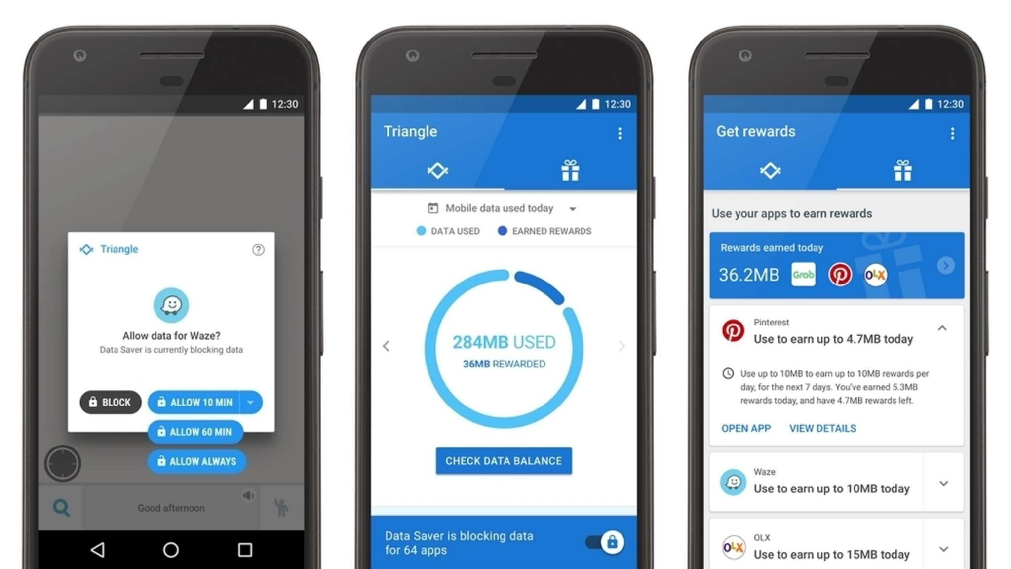 Mit Google Triangle soll das Datenvolumen länger reichen.