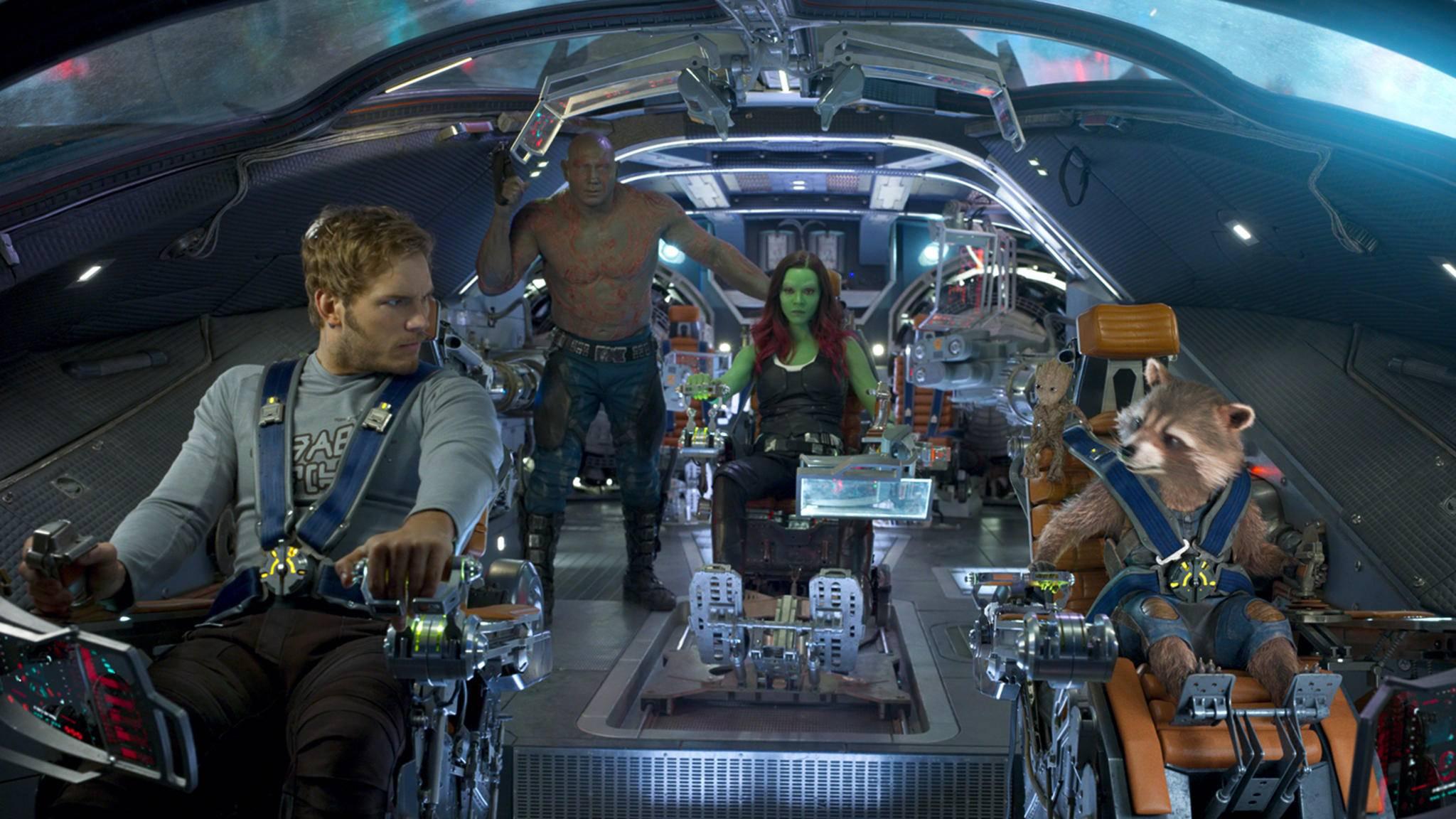 """Da ist noch Platz im """"Guardians""""-Raumschiff – aber wer ihn einnimmt, ist noch nicht ganz klar."""