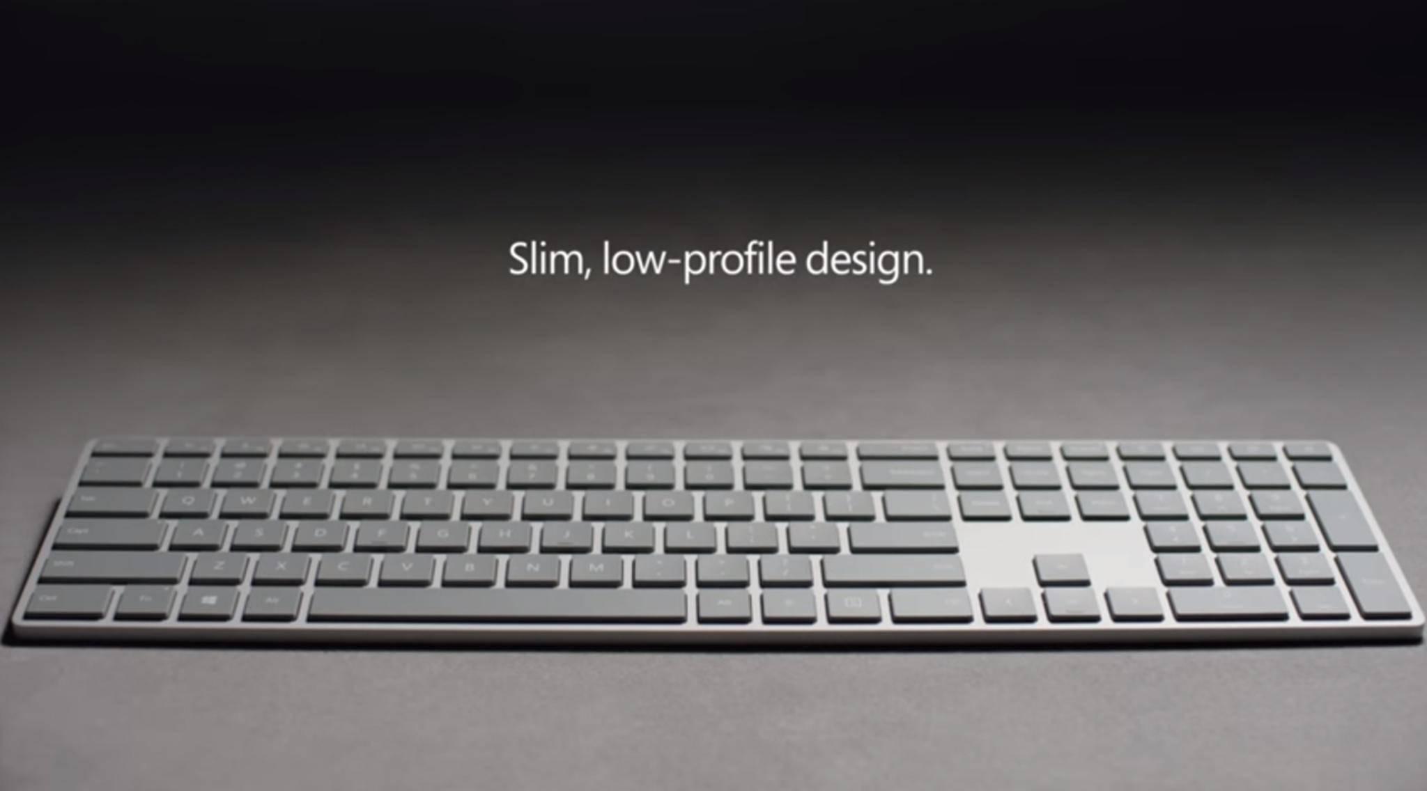 """Das """"Modern Keyboard"""" kommt als Nachfolger der Surface-Tastatur auf den Markt."""