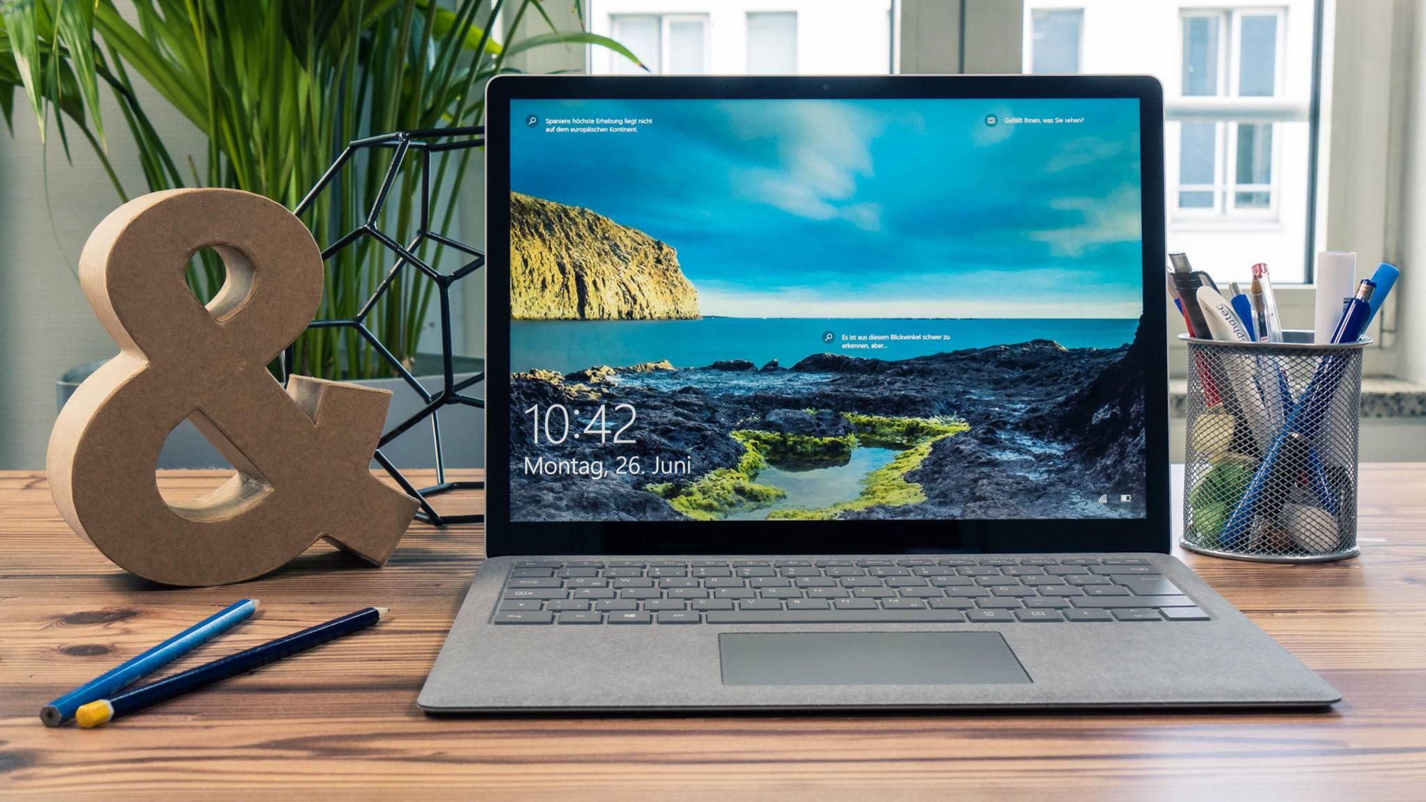 Der Surface Laptop kommt mit Windows 10 S daher.