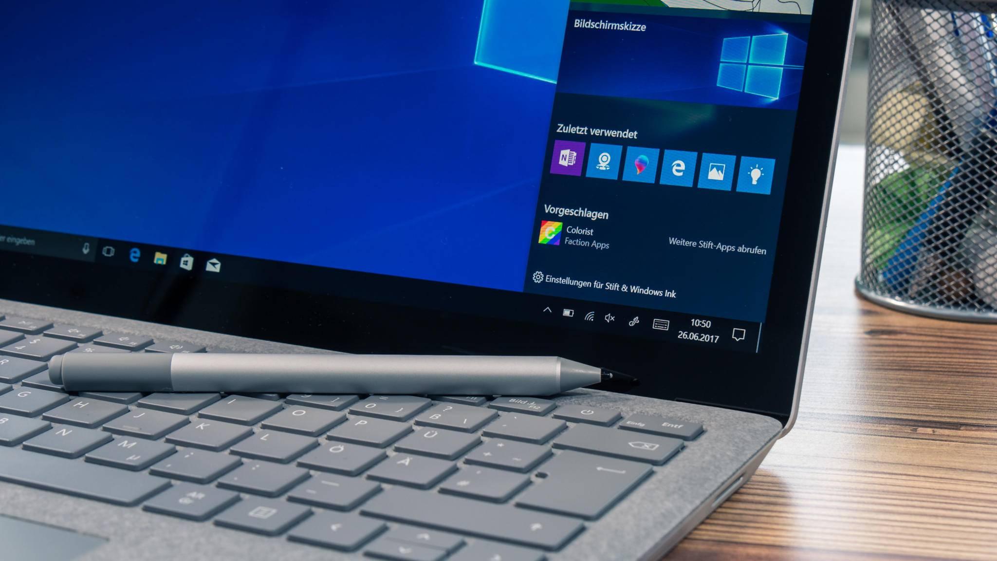 Windows 10 S ist auf einigen Varianten des Surface Laptop vorinstalliert.
