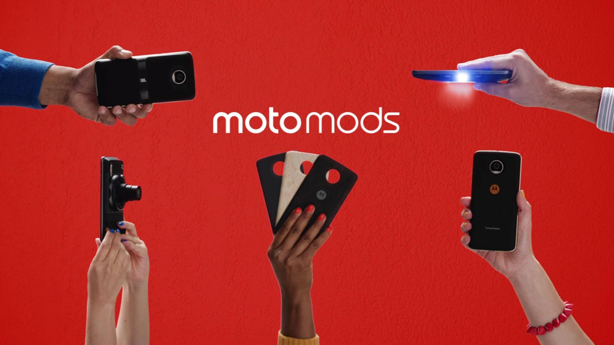 Die Moto-Z-Reihe bekommt 2017 viele neue Moto Mods.