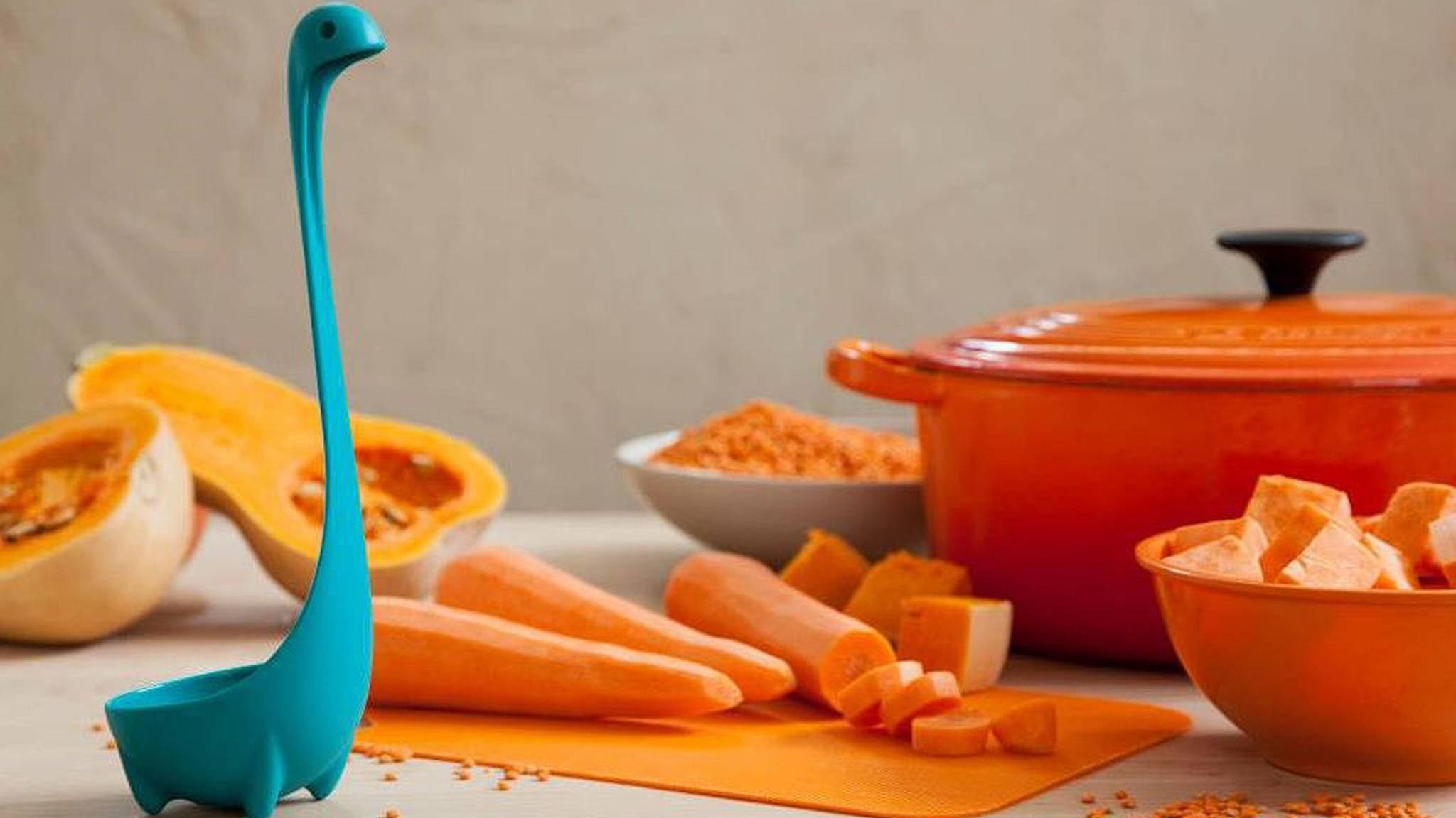 Lustige Küchen-Gadgets wie Nessie und Co. sorgen für gute Laune beim Kochen.