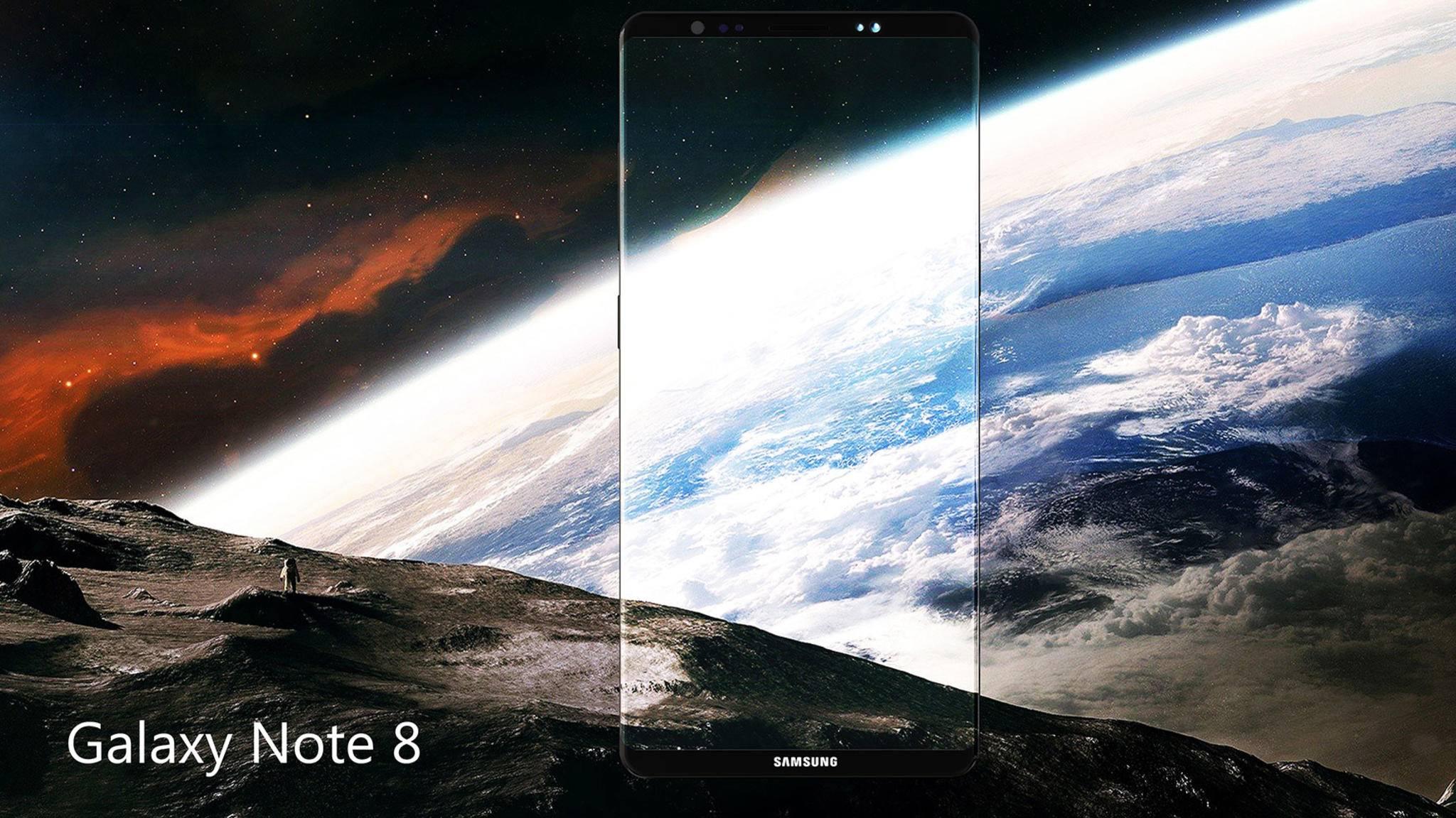 Der Bildschirm des Galaxy Note 8 dürfte noch beeindruckender als beim Galaxy S8 ausfallen.
