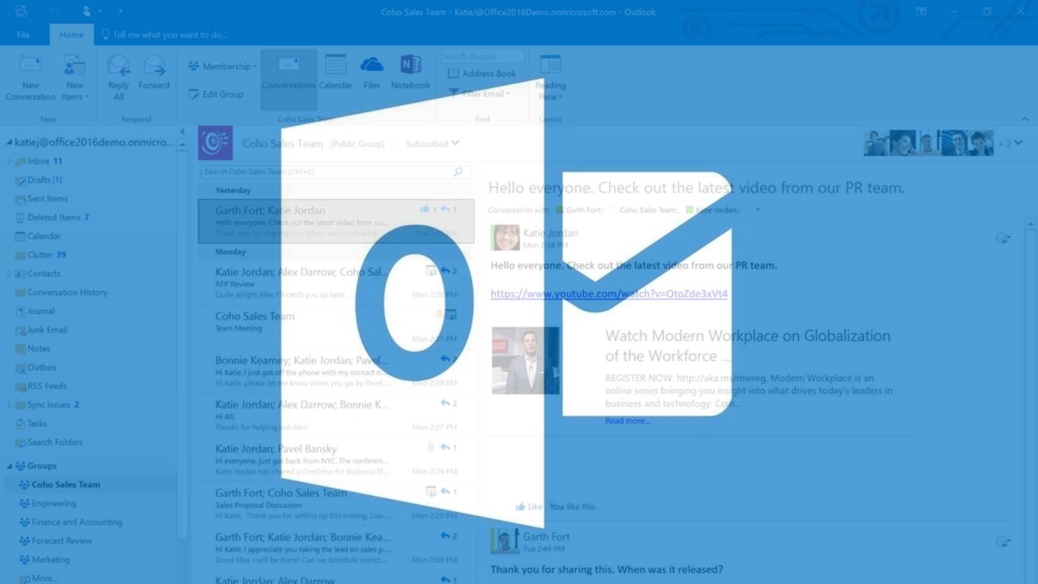 Outlook ist der Mail-Dienst von Microsoft.
