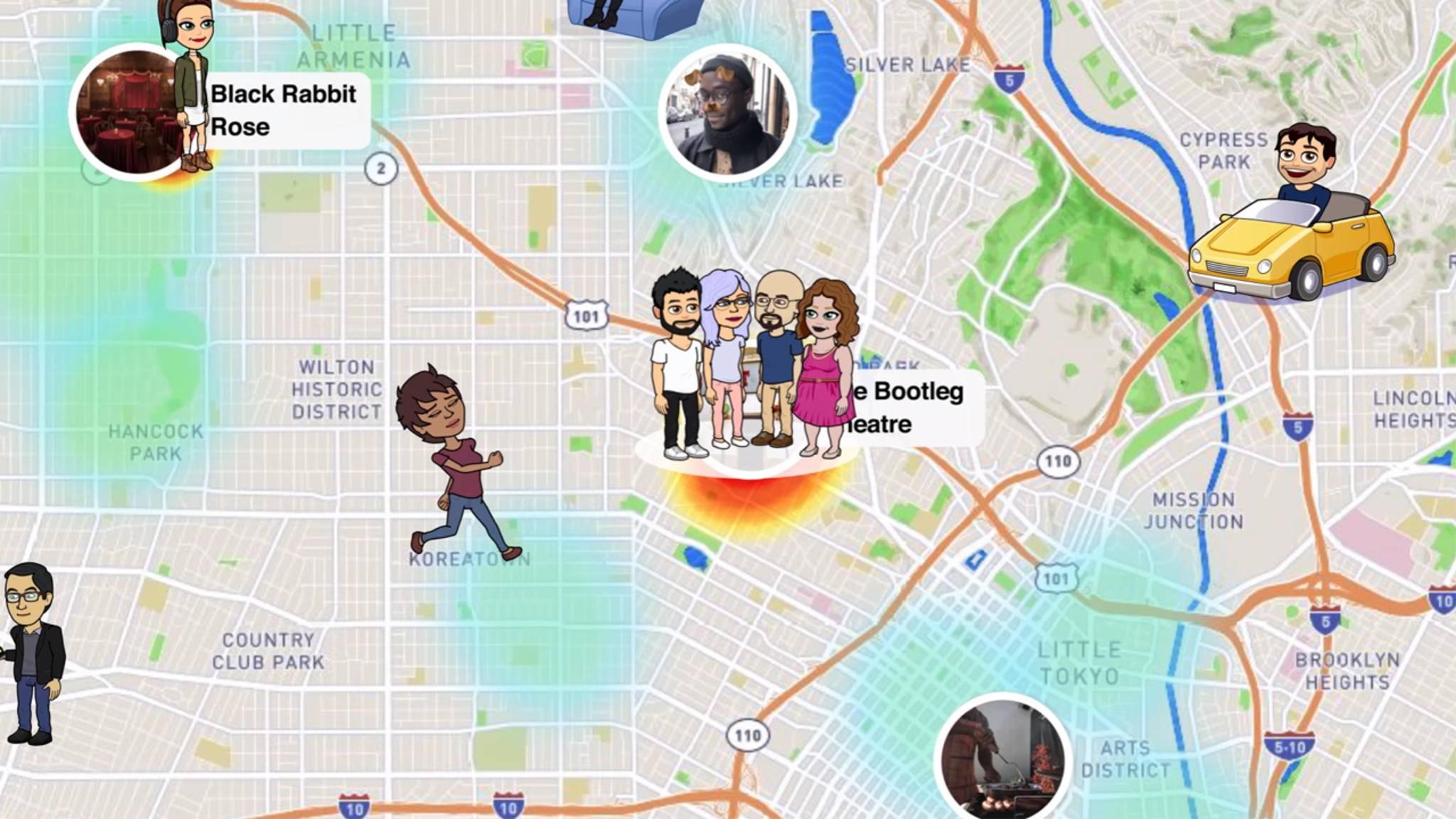 Die Snap Map zeigt Dir an, wo Freunde sich gerade aufhalten.