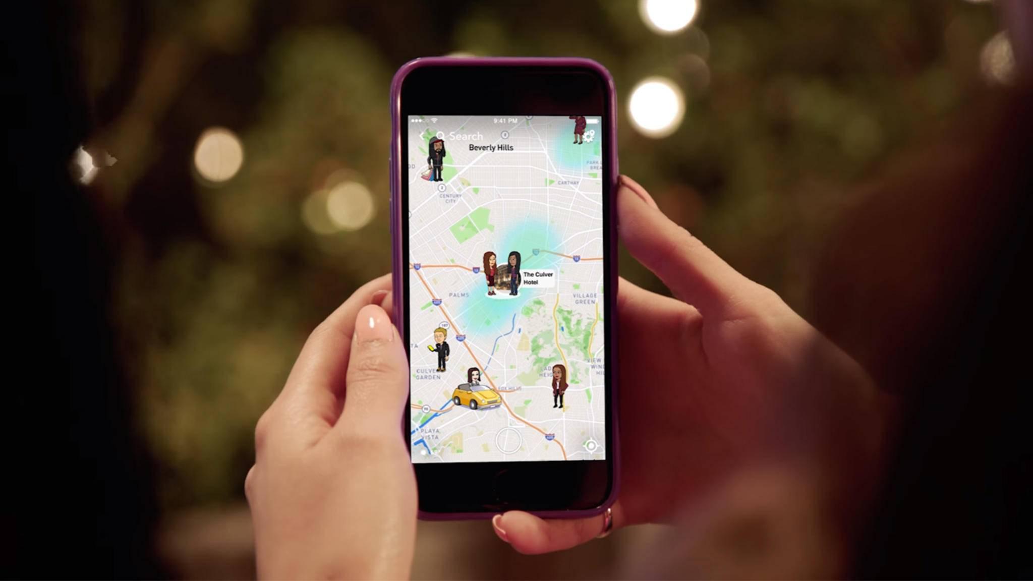 Snapchat wurde kürzlich um eine Kartenfunktion erweitert.