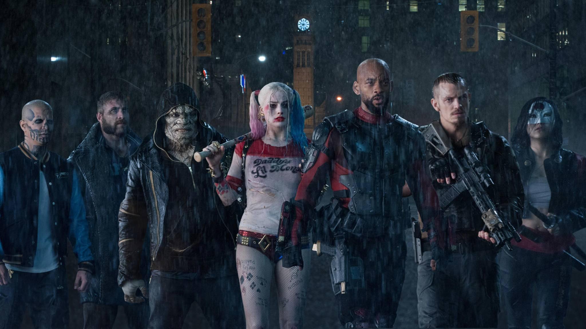 """So sieht die """"alte"""" Suicide Squad von 2016 aus. Bald feiert eine neue Task Force X ihr Debüt."""