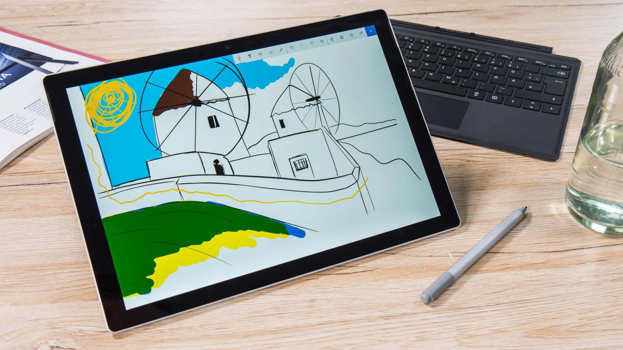 Das Surface-Laptop-Display ist größer, aber das Surface-Pro-Display ist schärfer.