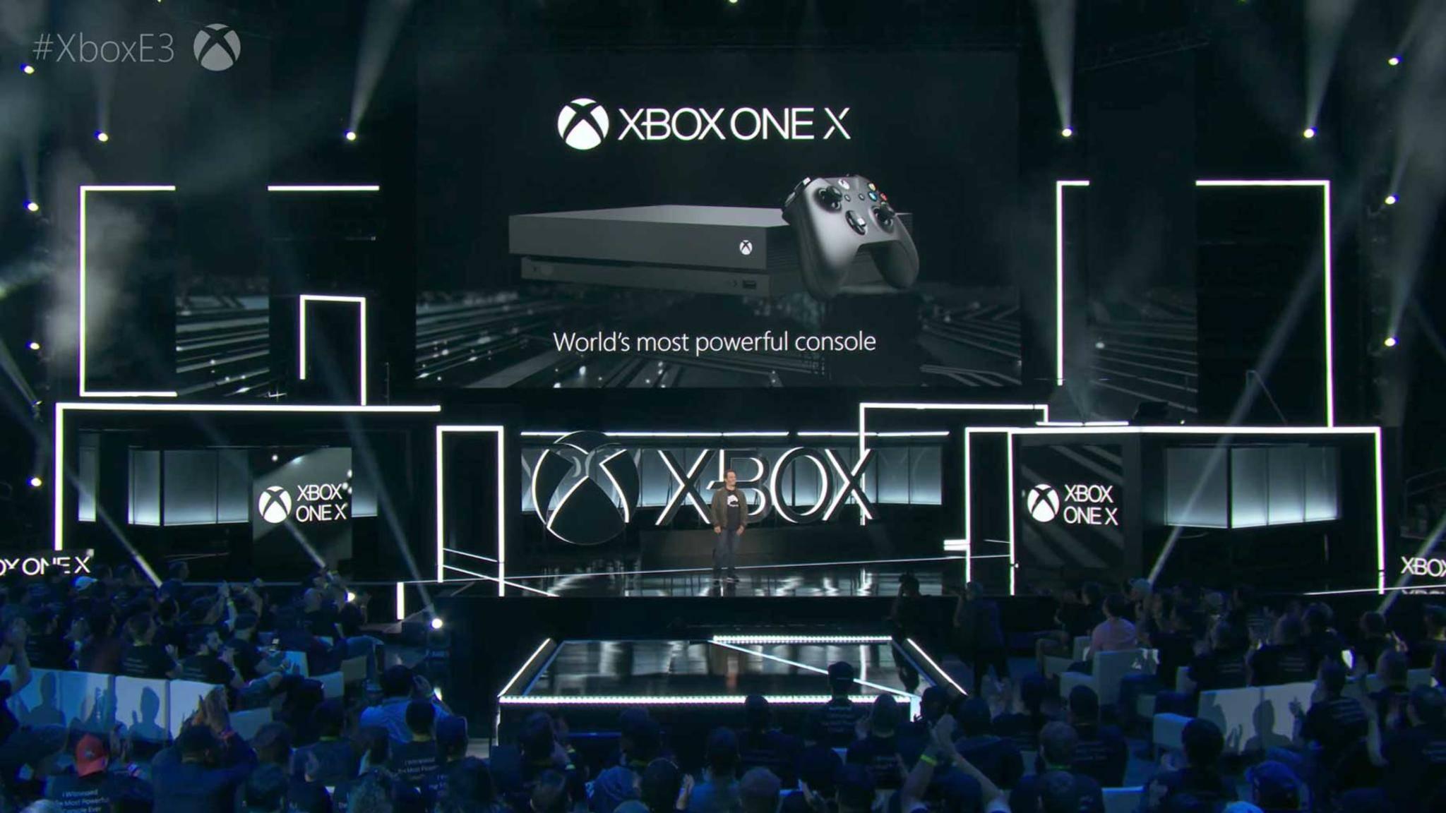 Die neue Xbox One X.