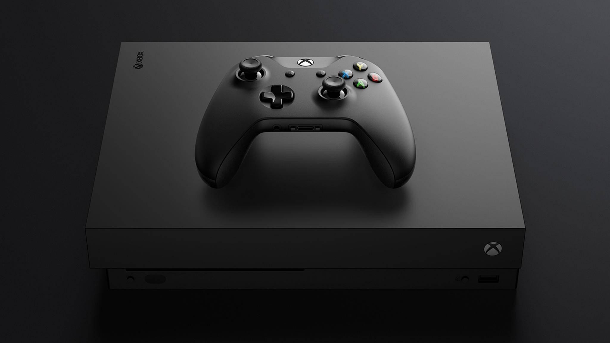 Xbox One X mit Controller