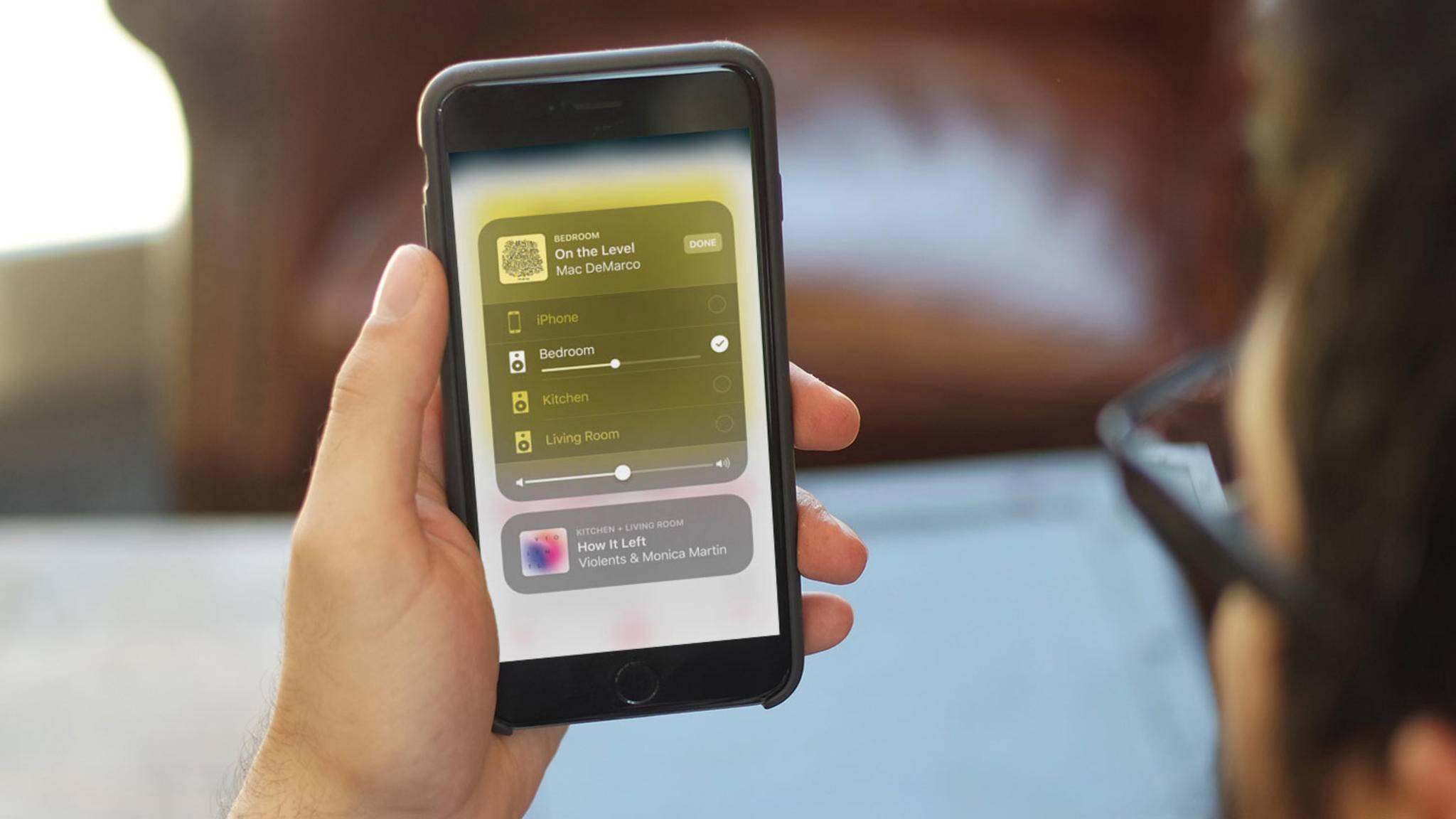 Dank AirPlay 2 können gleich mehrere Lautsprecher auf einmal angesteuert werden.