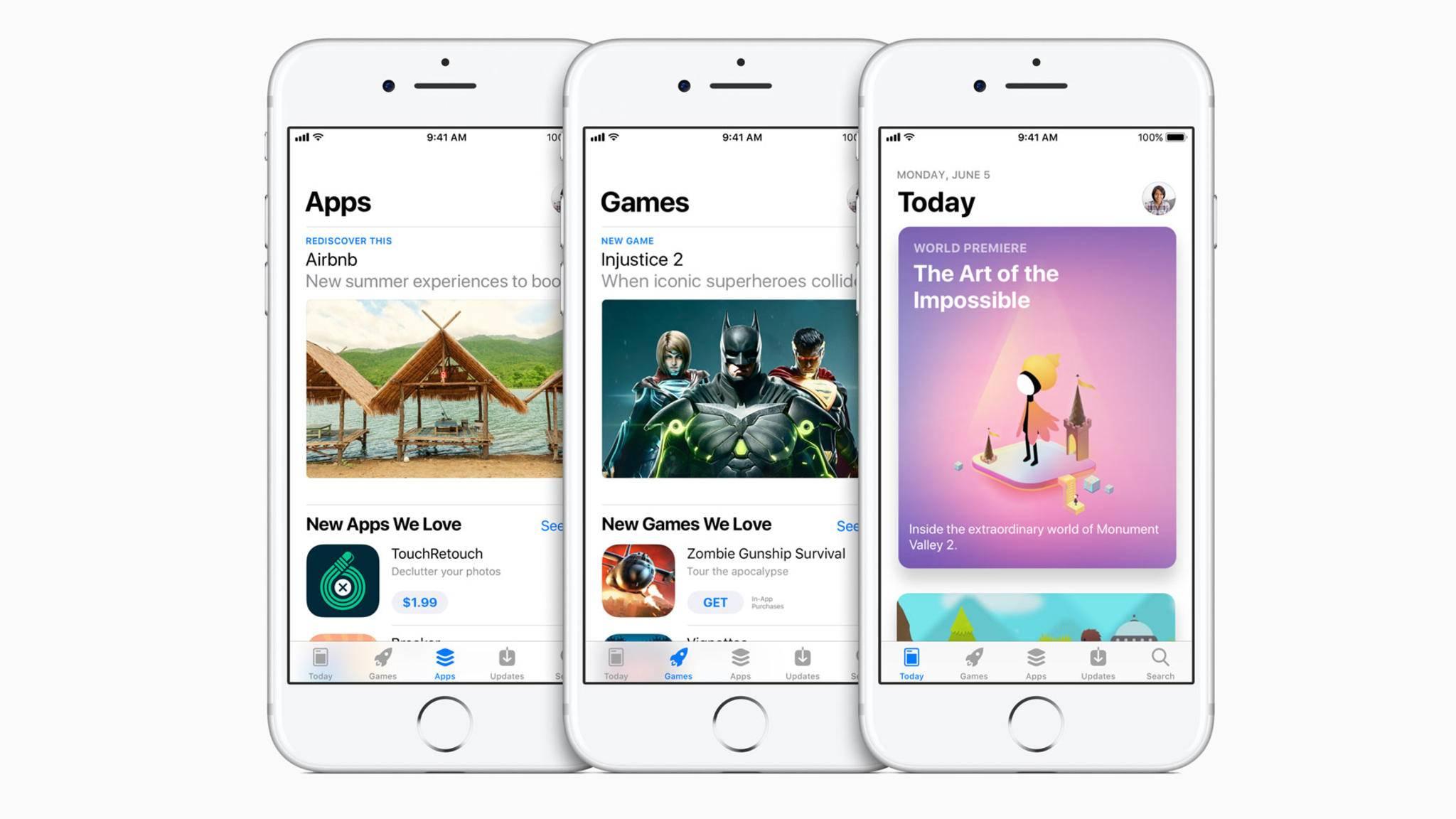 Der App Store präsentiert sich in völlig neuer Optik und Struktur.