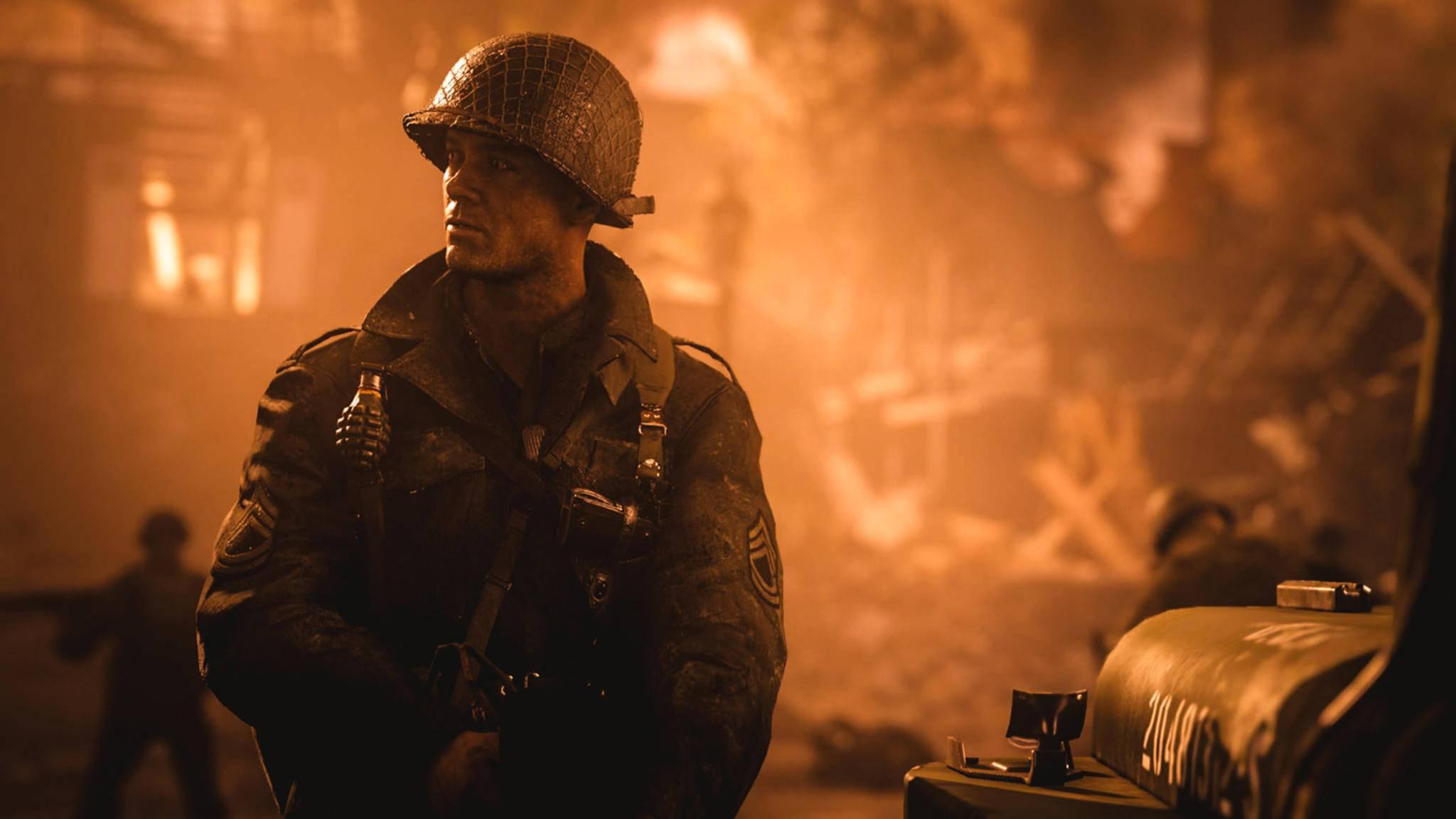 Call of Duty: WW2 - ein Soldat.