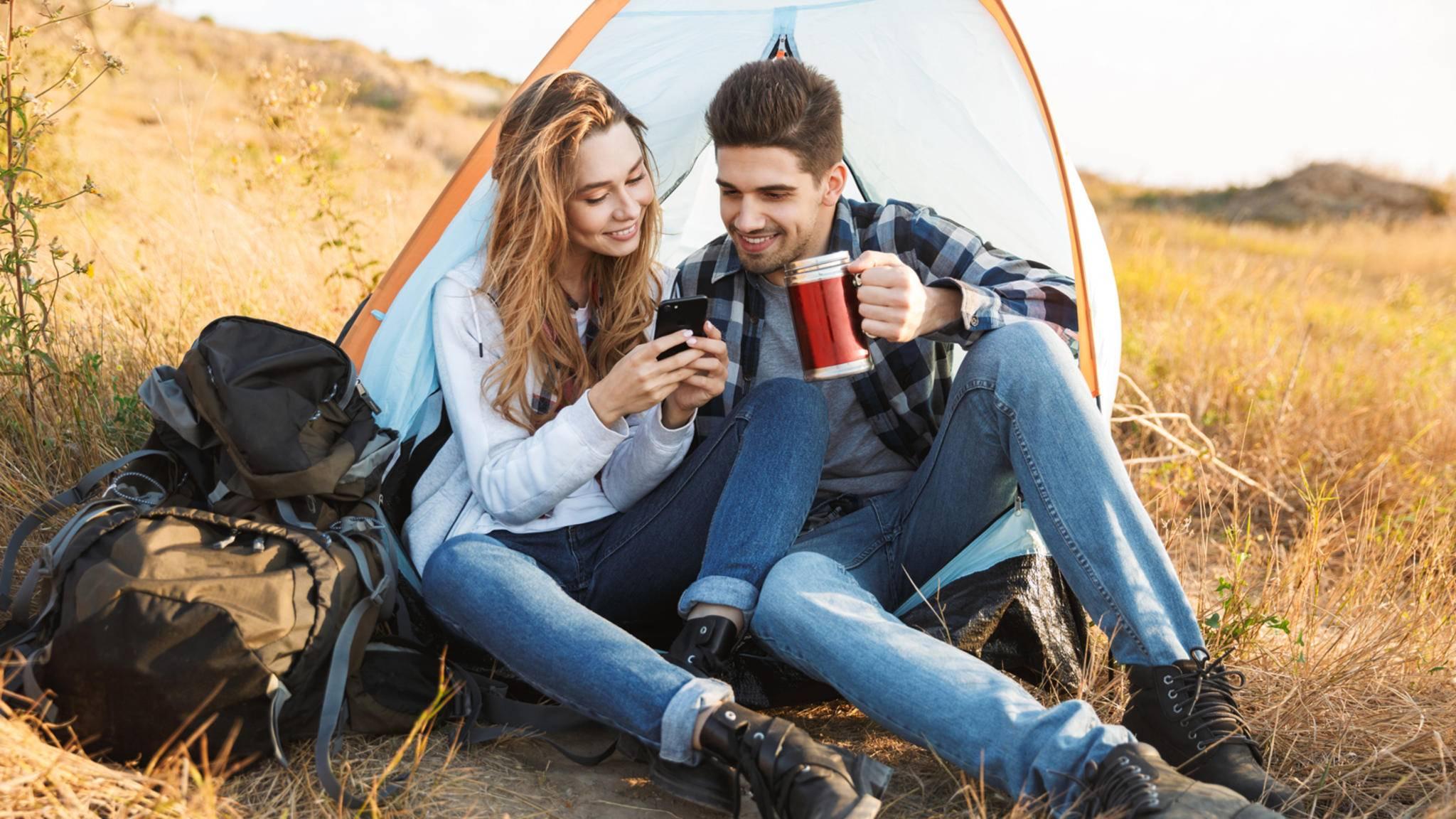 Camping Zelten Paar