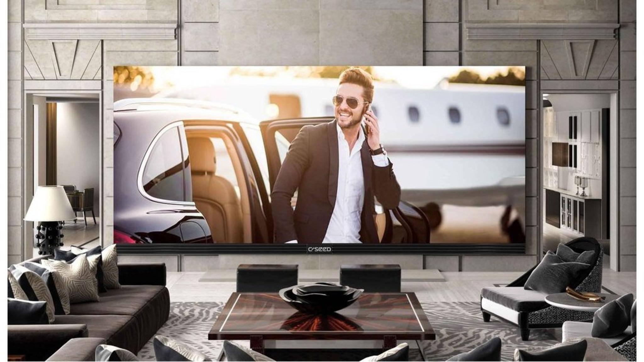 262 Zoll Diagonale, 800 Kilogramm schwer, 480.000 Euro teuer: Der 4K-TV C Seed 262 UHD.